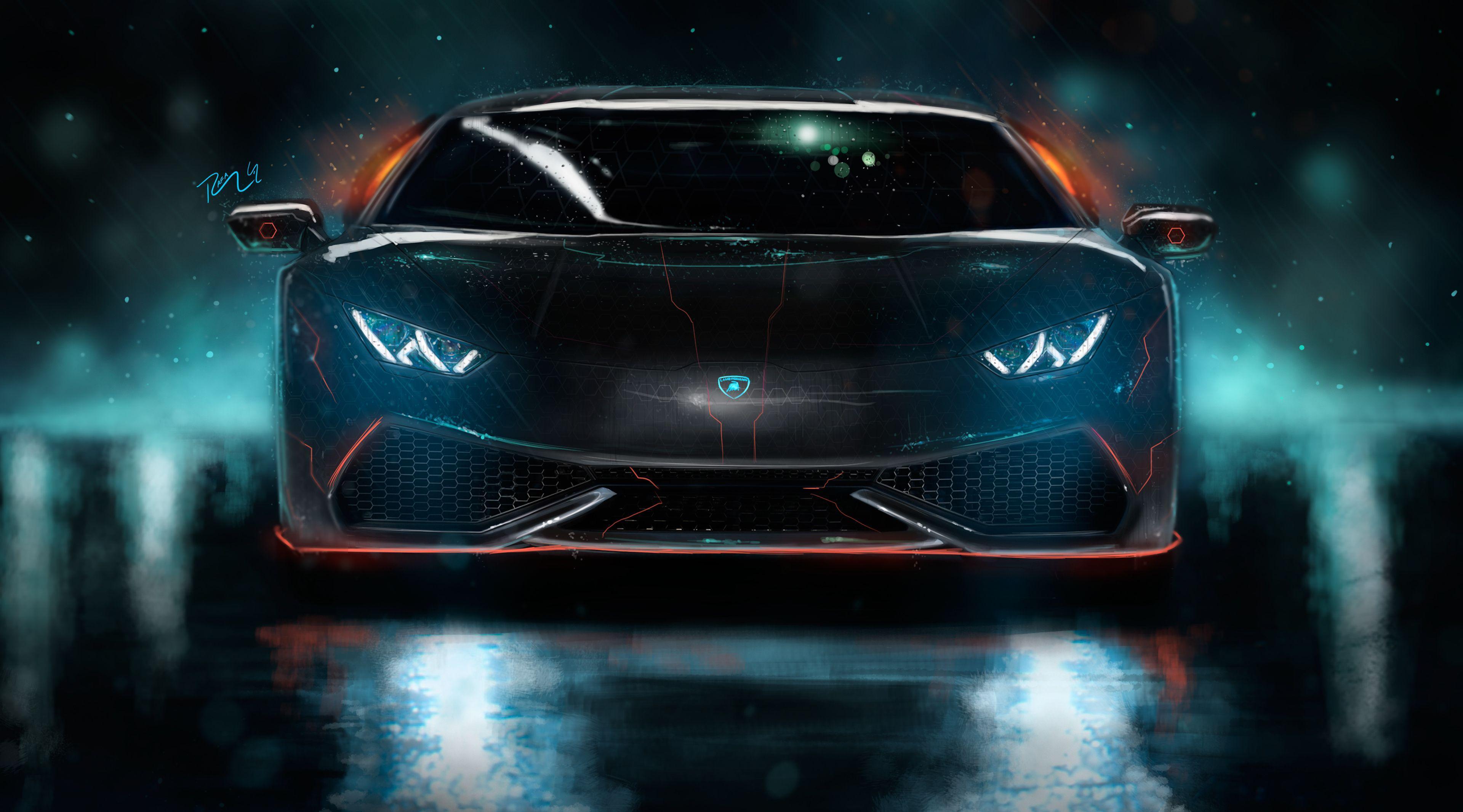 Neon Lamborghini Wallpapers Wallpaper Cave