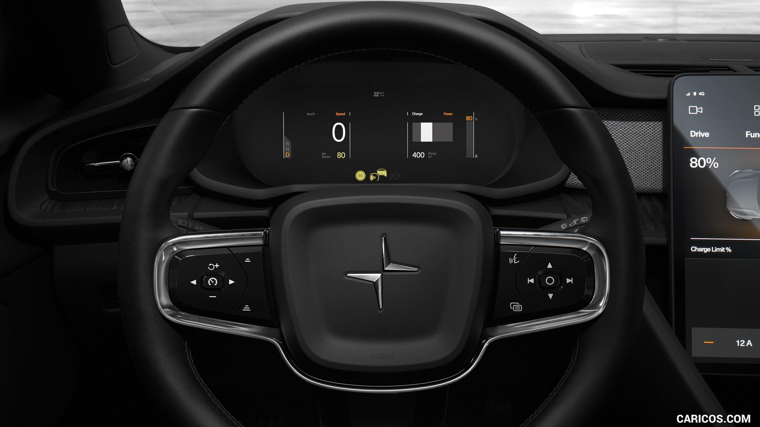 2020 Polestar 2 - Interior, Steering Wheel | HD Wallpaper #14