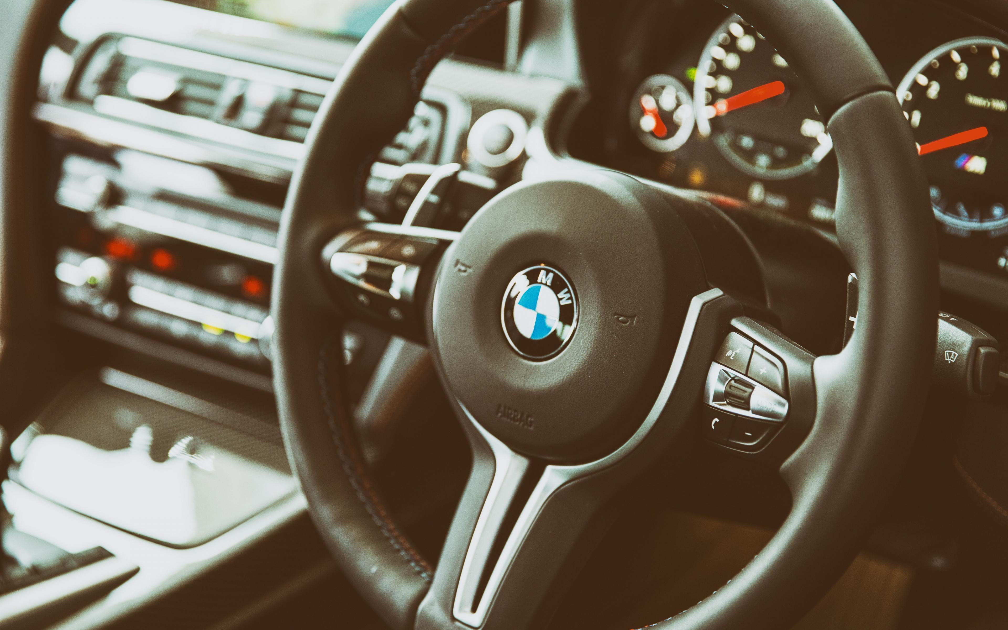 BMW M6 Steering Wheel Interior HD Backgrounds Wallpapers