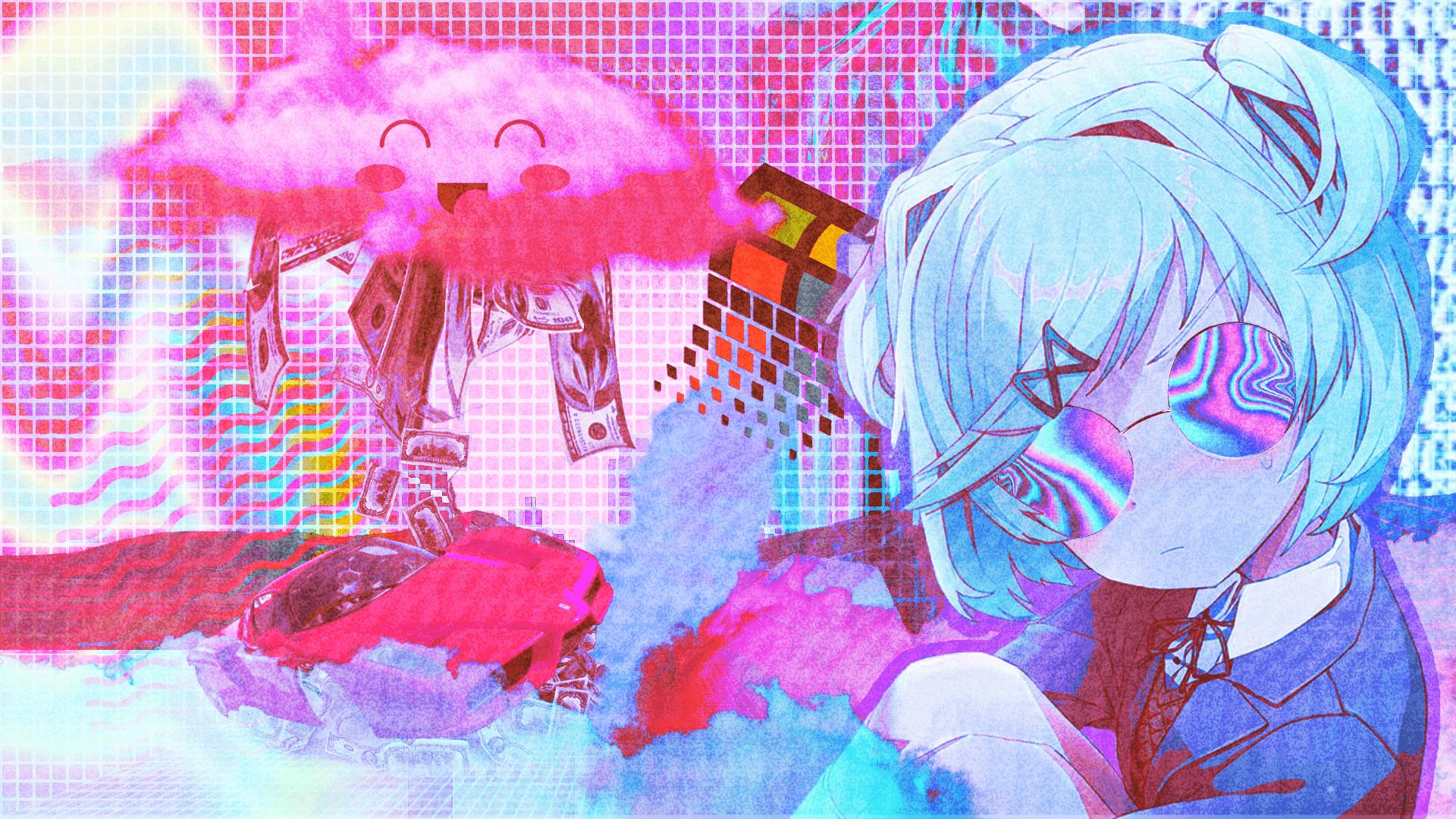 Vaporwave Anime Wallpapers Wallpaper Cave