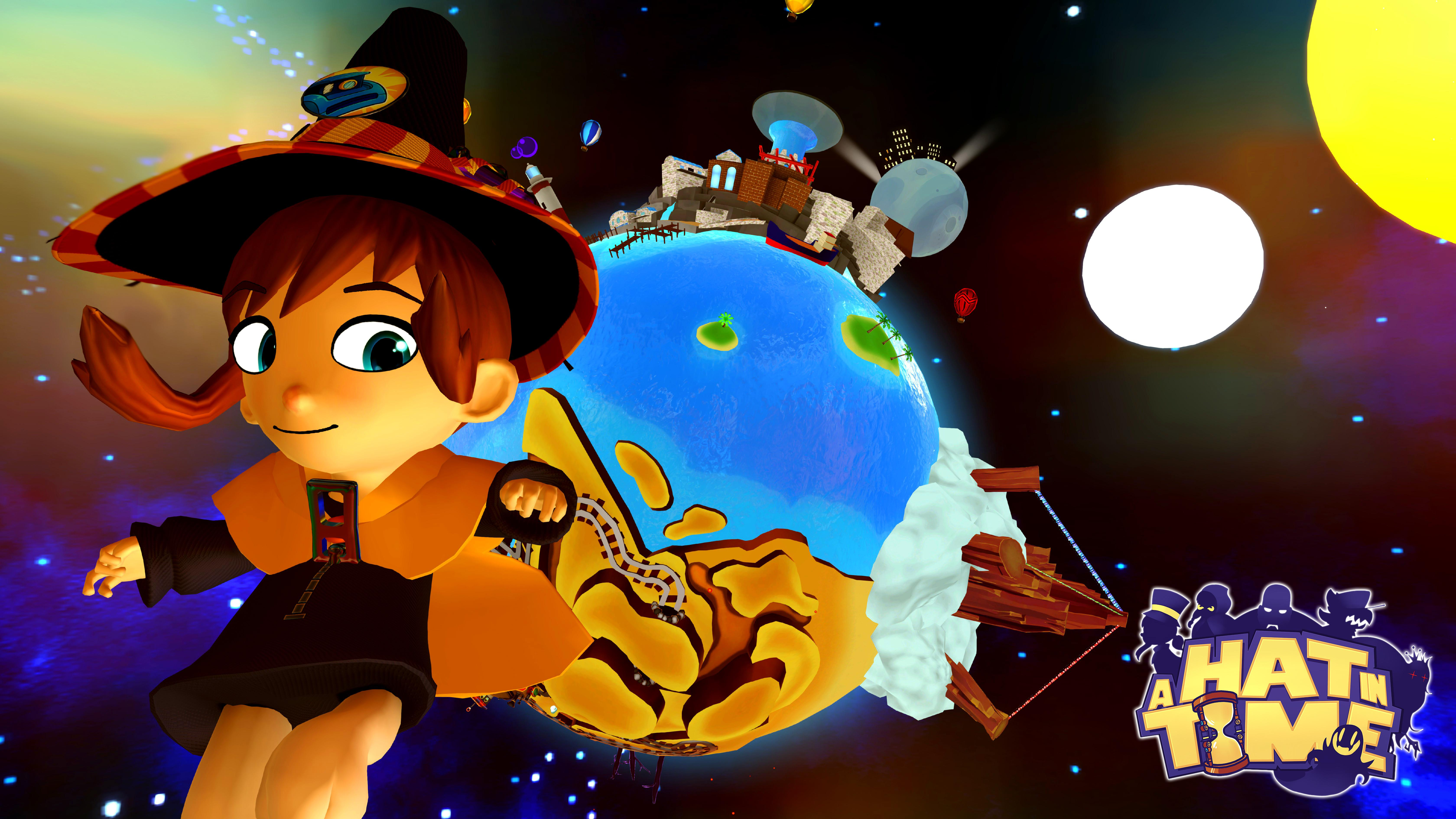 I made this wallpapers for A Hat in Time. I've fallen totally in