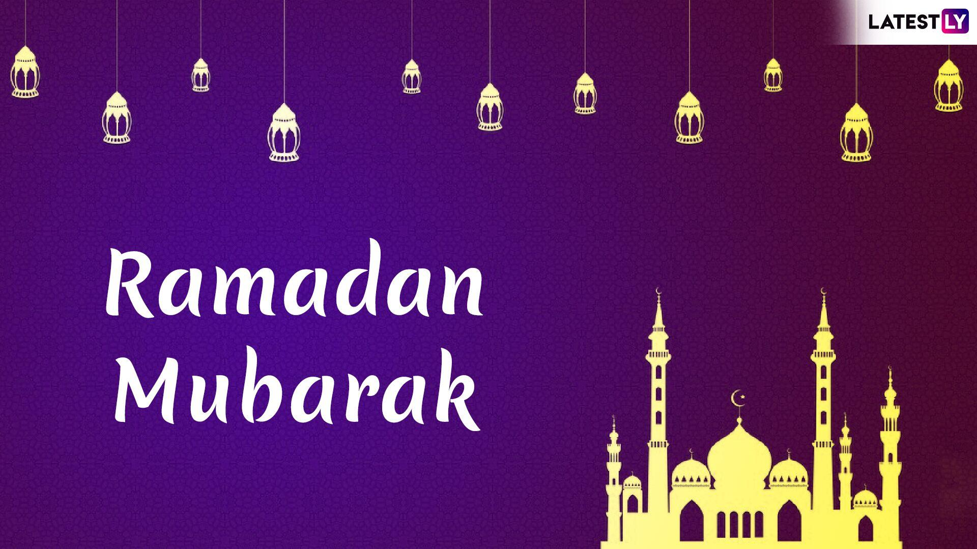 Ramadan Mubarak Image & Ramadan Kareem HD Wallpapers for Free Download Online: Wish Ramzan Mubarak 2019 With GIF Greetings & Urdu WhatsApp Sticker Messages