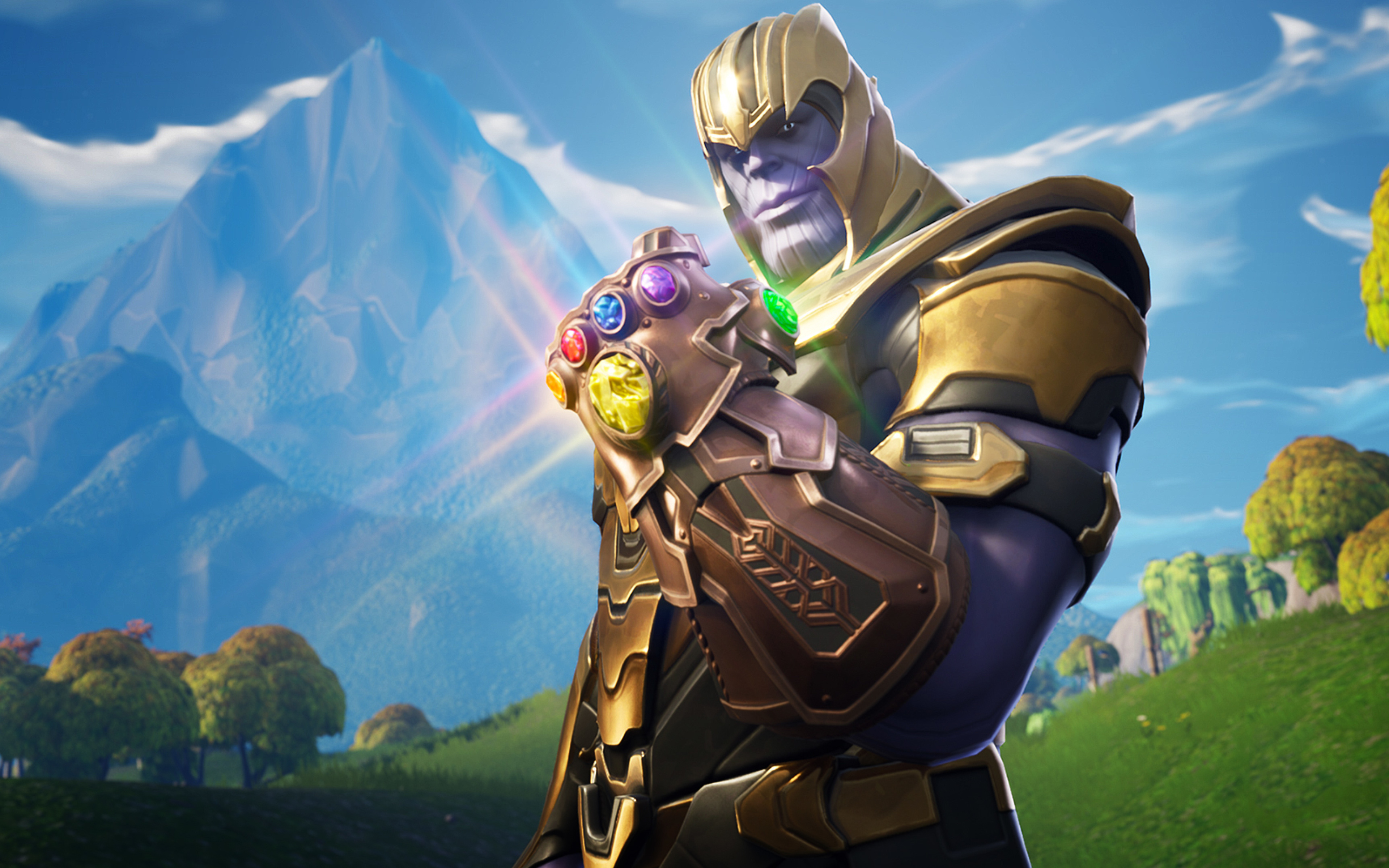 3840x2400 Thanos In Fortnite Battle Royale 4k HD 4k Wallpapers