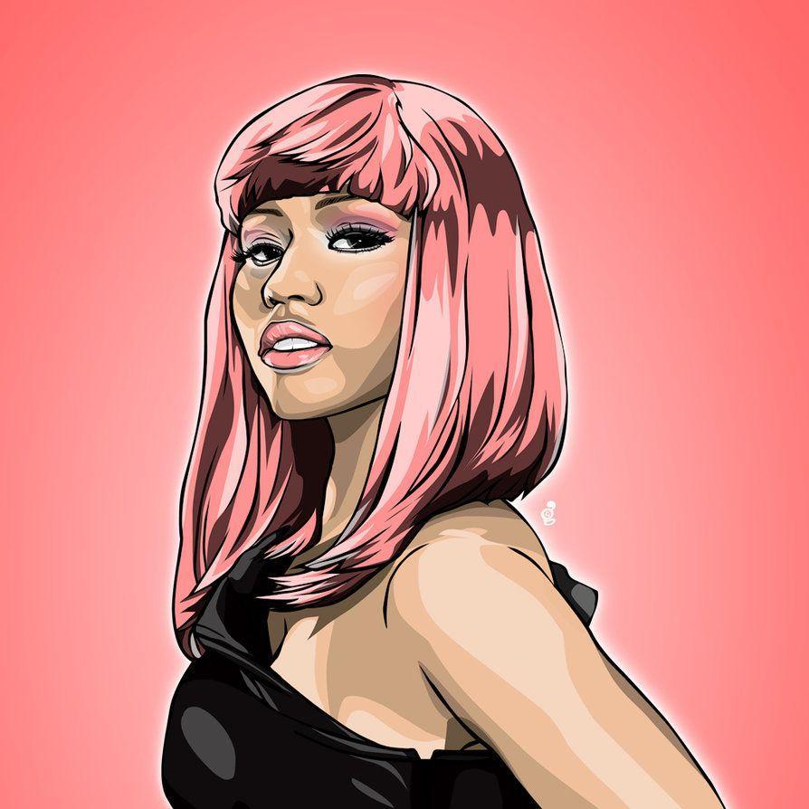 Wallpaper Cartoon Cute Nicki Minaj