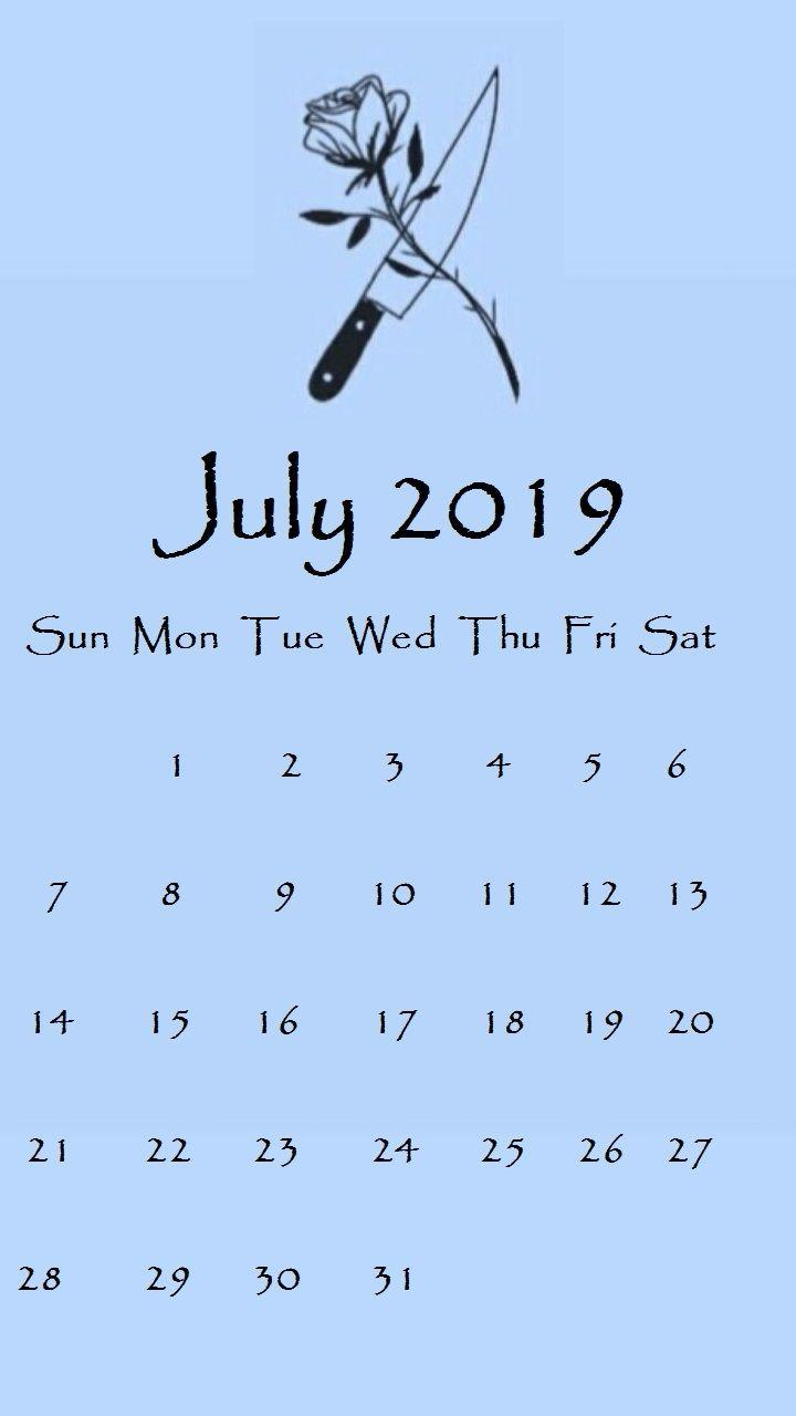 july 2019 iphone calendar wallpapers::July 2019 iPhone Calendar