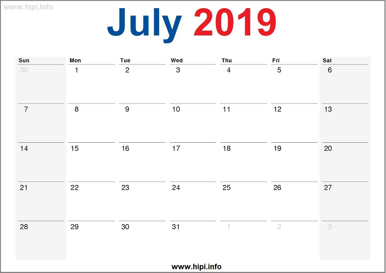 Twitter Headers / Facebook Covers / Wallpapers / Calendars: July