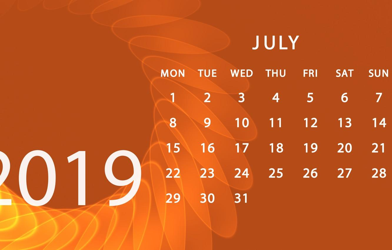 Wallpapers calendar, July, 2019 image for desktop, section рендеринг