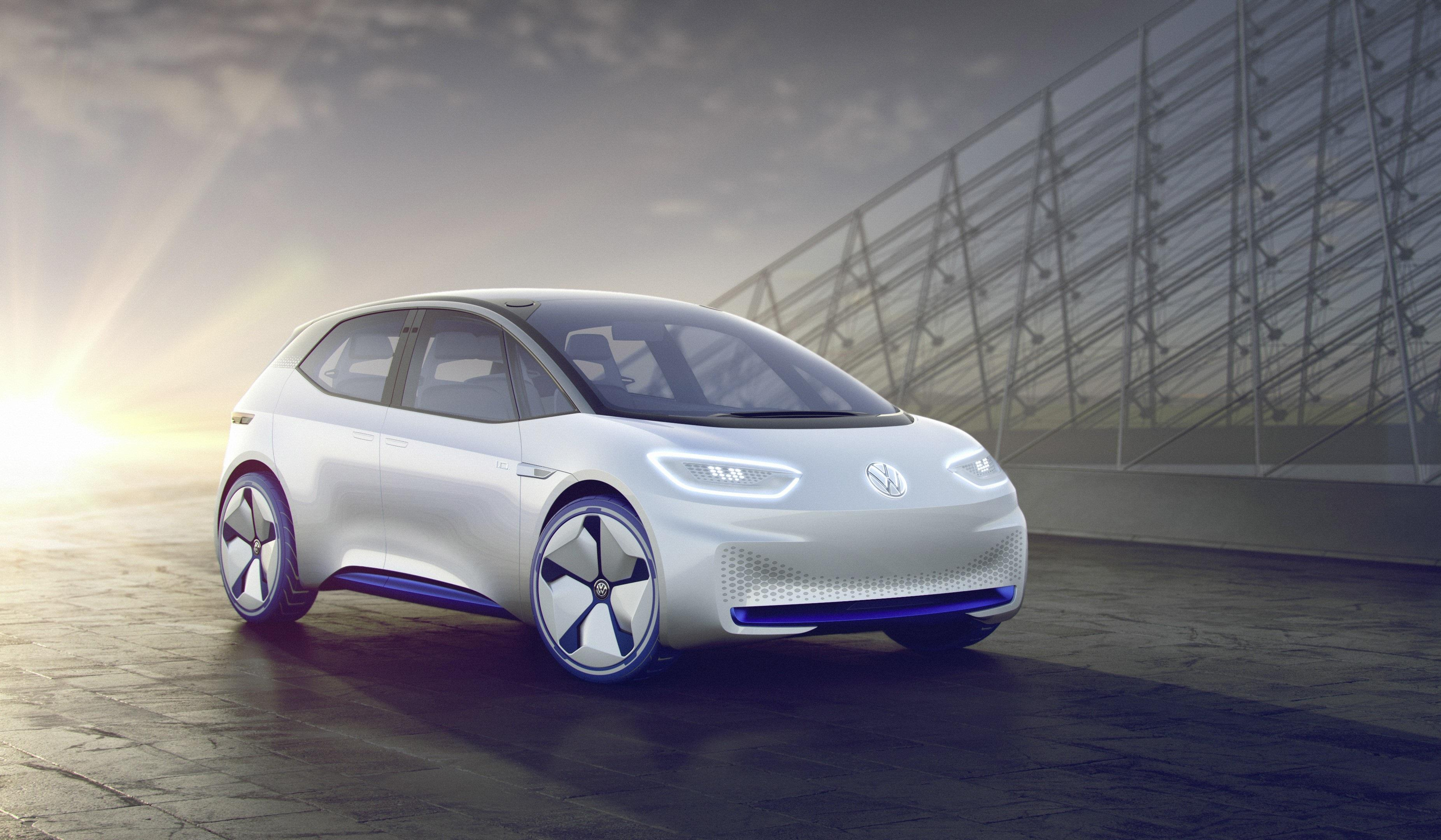Wallpapers Volkswagen I.D, Electric Cars, 2017 Cars, 4K, Automotive