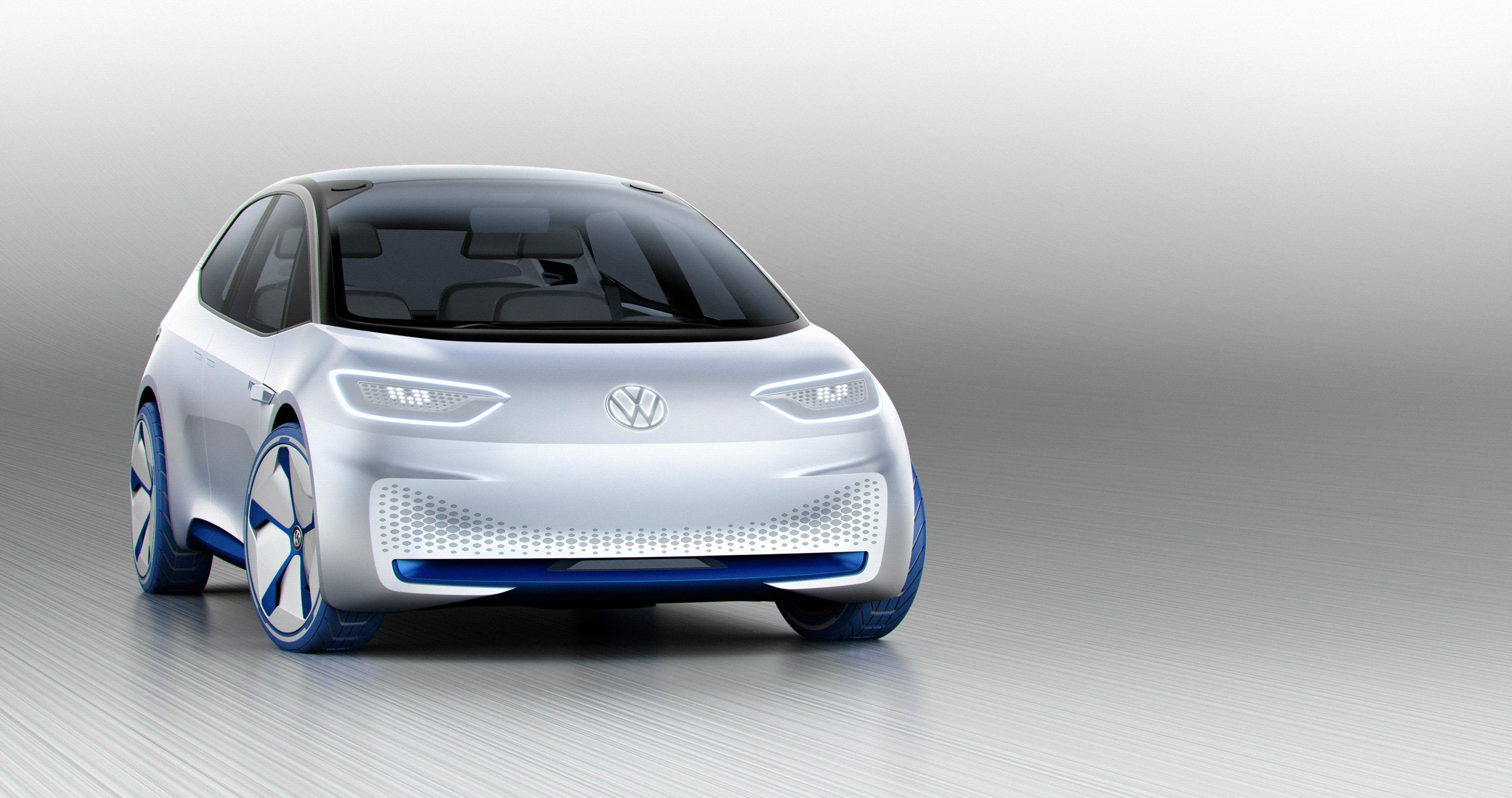 Wallpapers Volkswagen I.D, Concept Cars, Electric Cars, Paris Motor