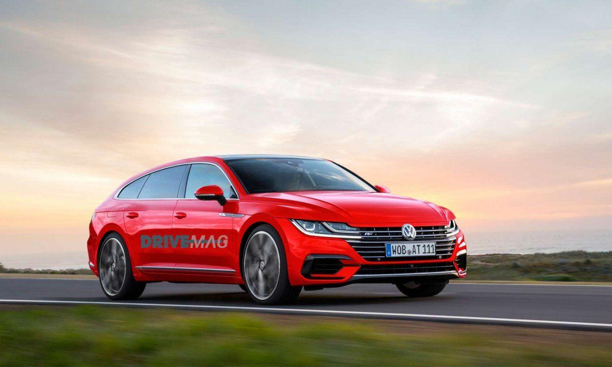VW Arteon shooting brake rendered with first