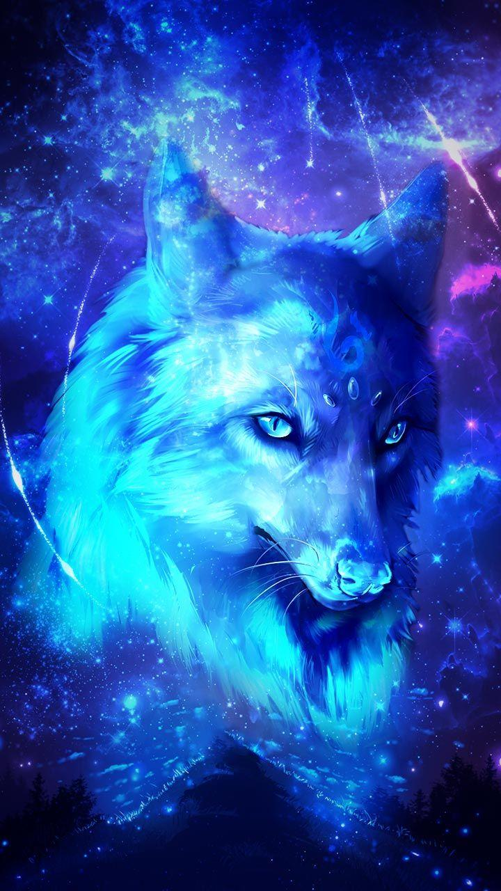 Blue And Green Wolf Wallpapers Wallpaper Cave
