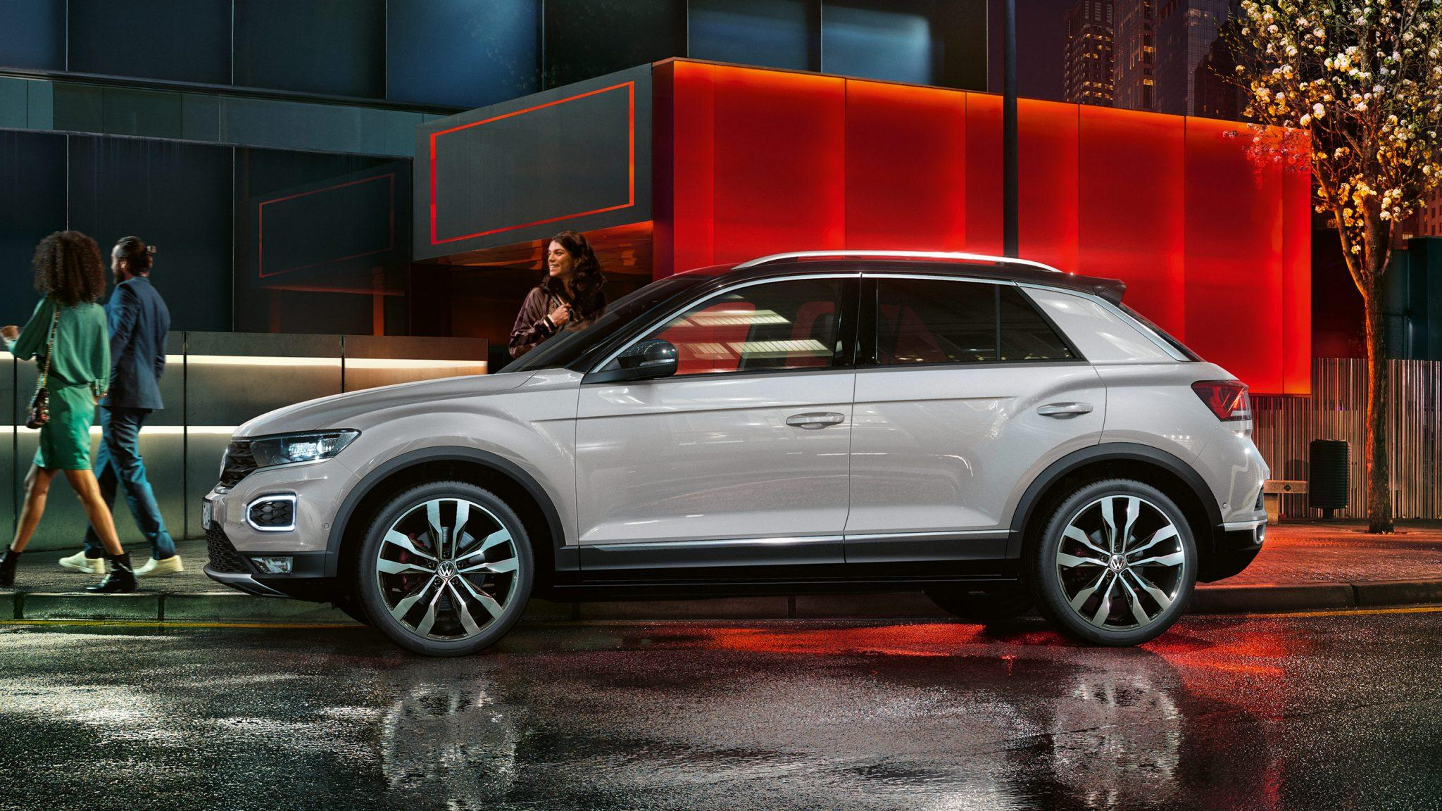 2018 Volkswagen T-Roc side view white color 4k hd wallpaper - Latest ...