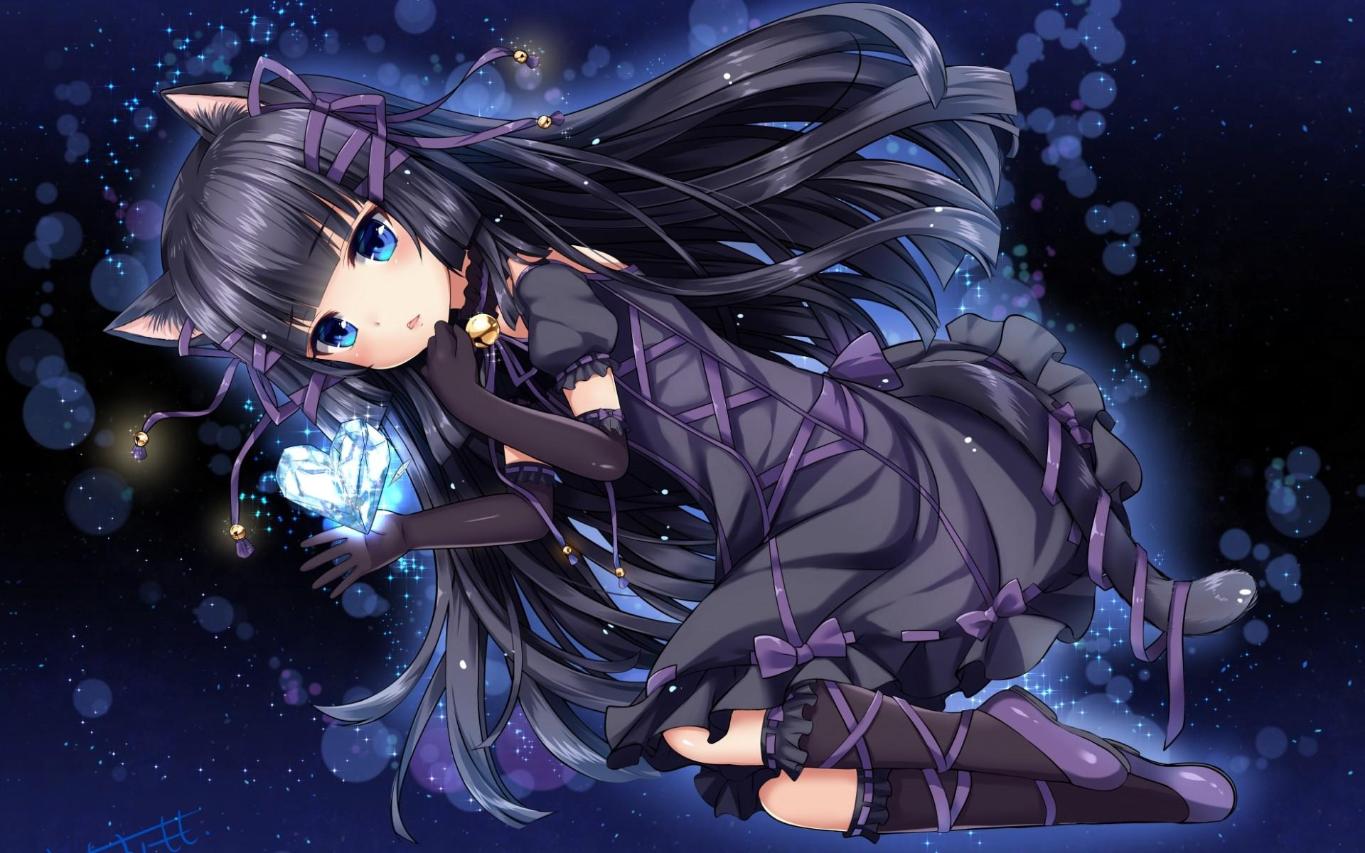 Galaxy Anime Cat Girl Wallpaper Anime Wallpapers