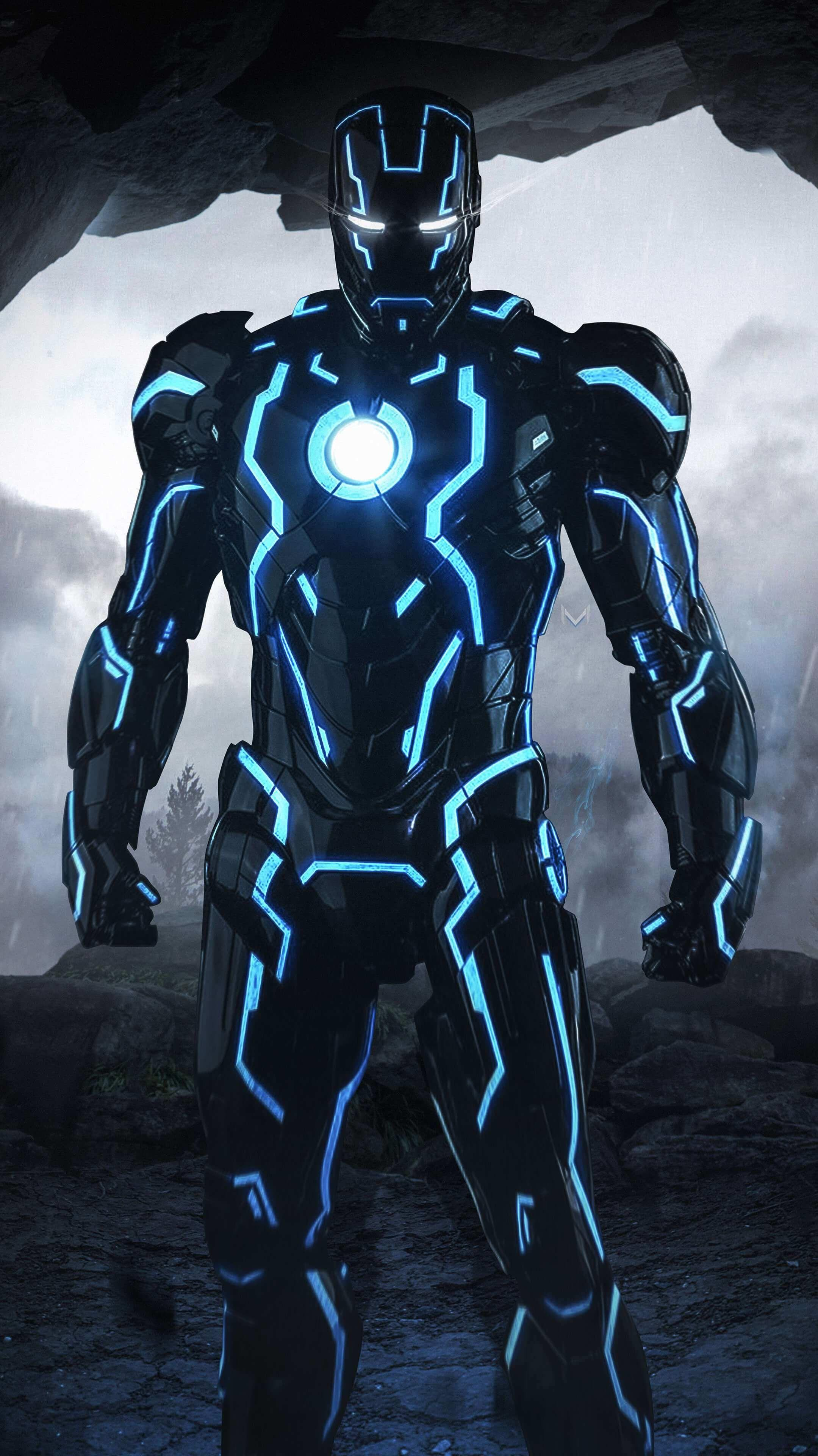 Neon Iron Man Wallpapers Wallpaper Cave