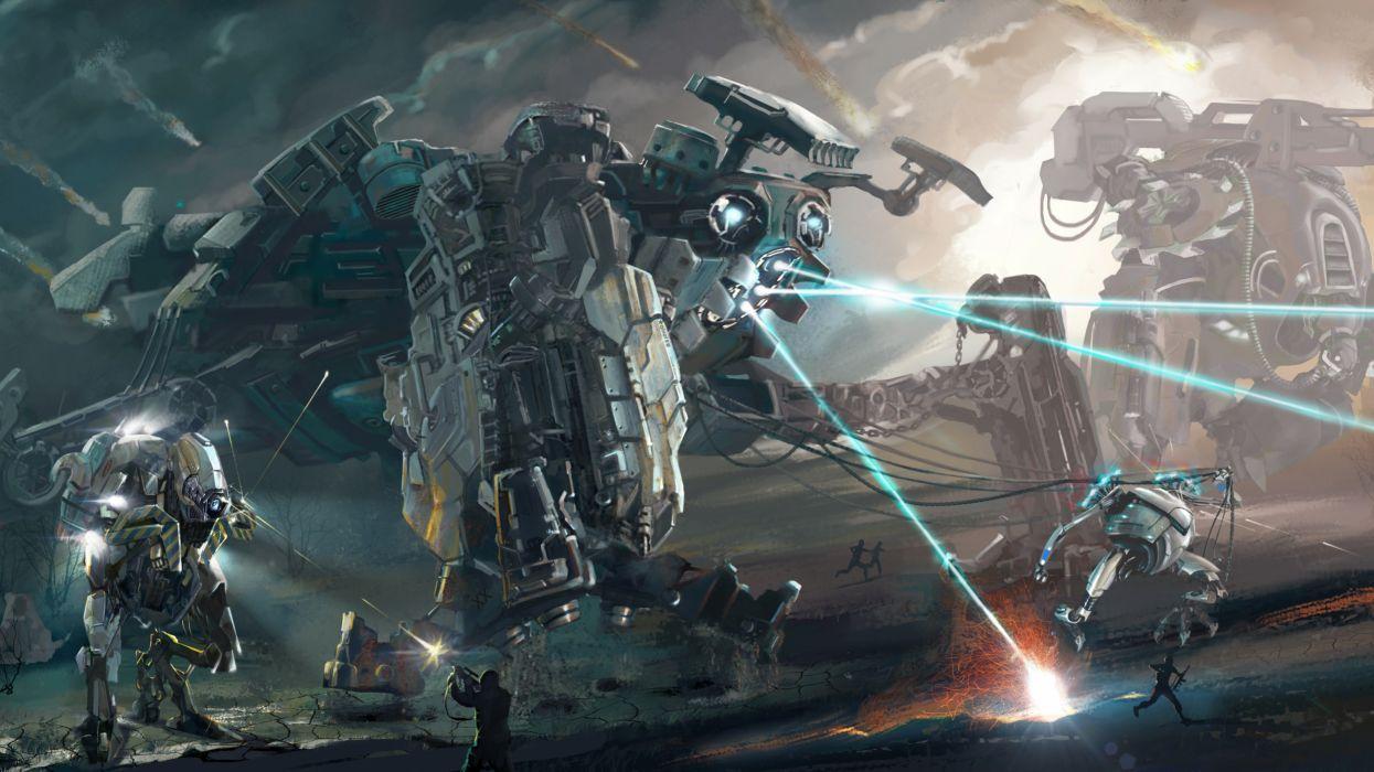 Robot Battle Wallpapers Wallpaper Cave