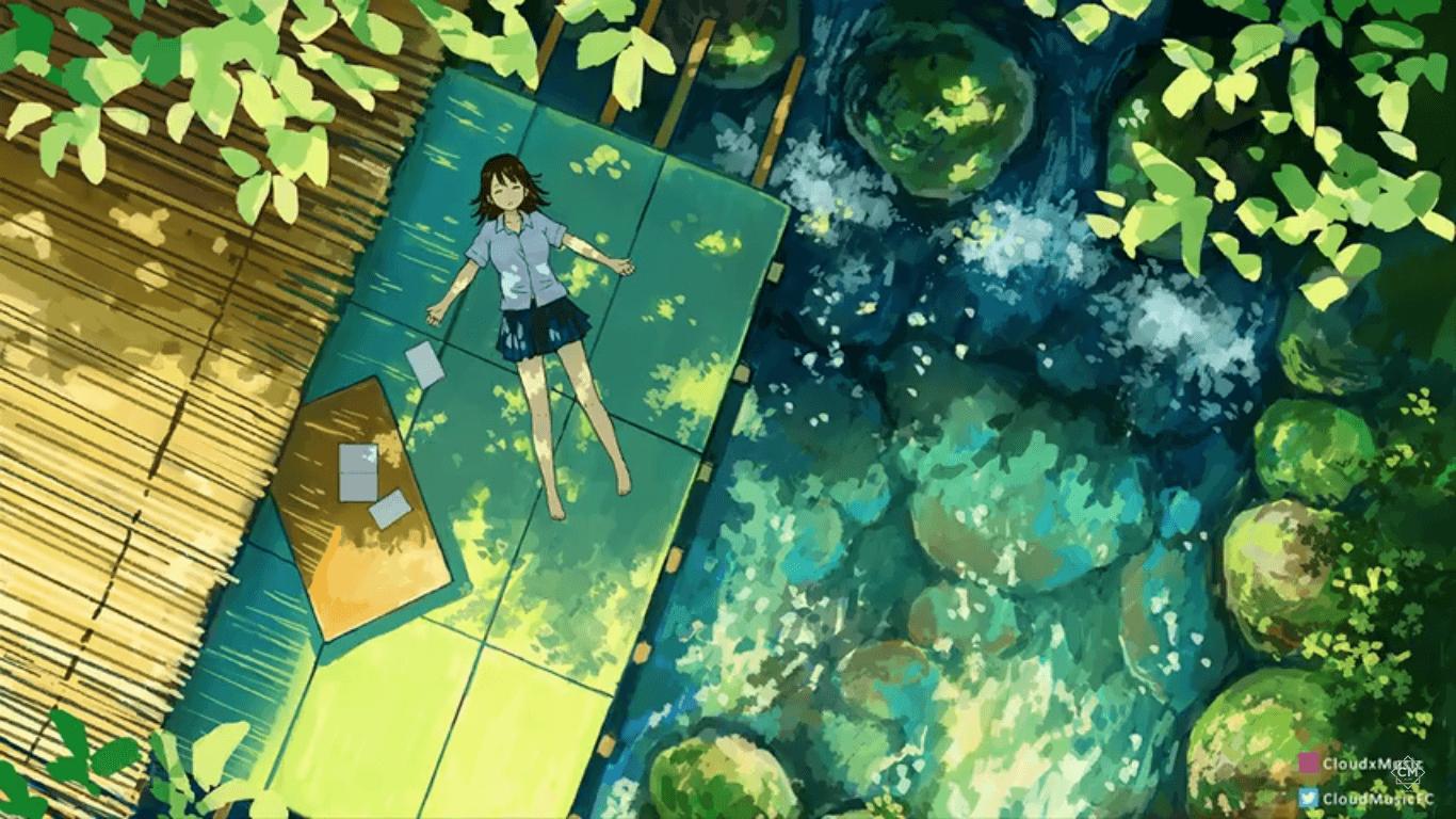 18+ Chill Anime Girl Wallpaper - Michi Wallpaper