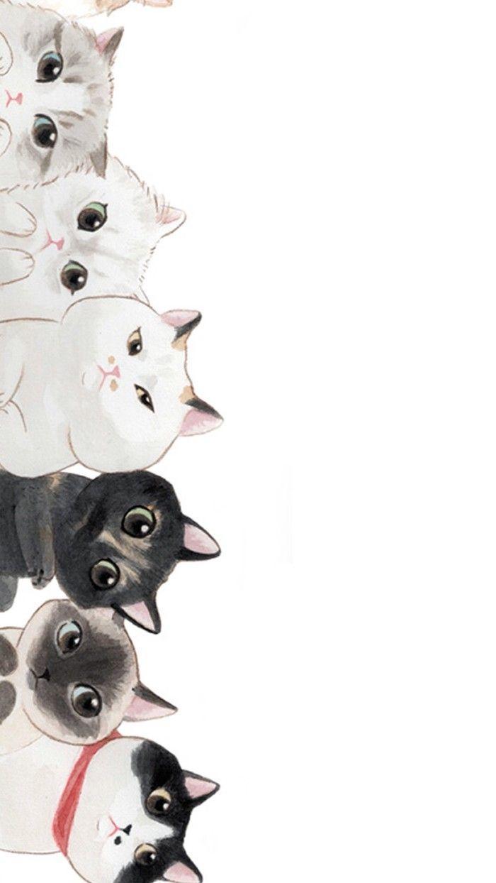 Drawn Cat Wallpapers   Wallpaper Cave
