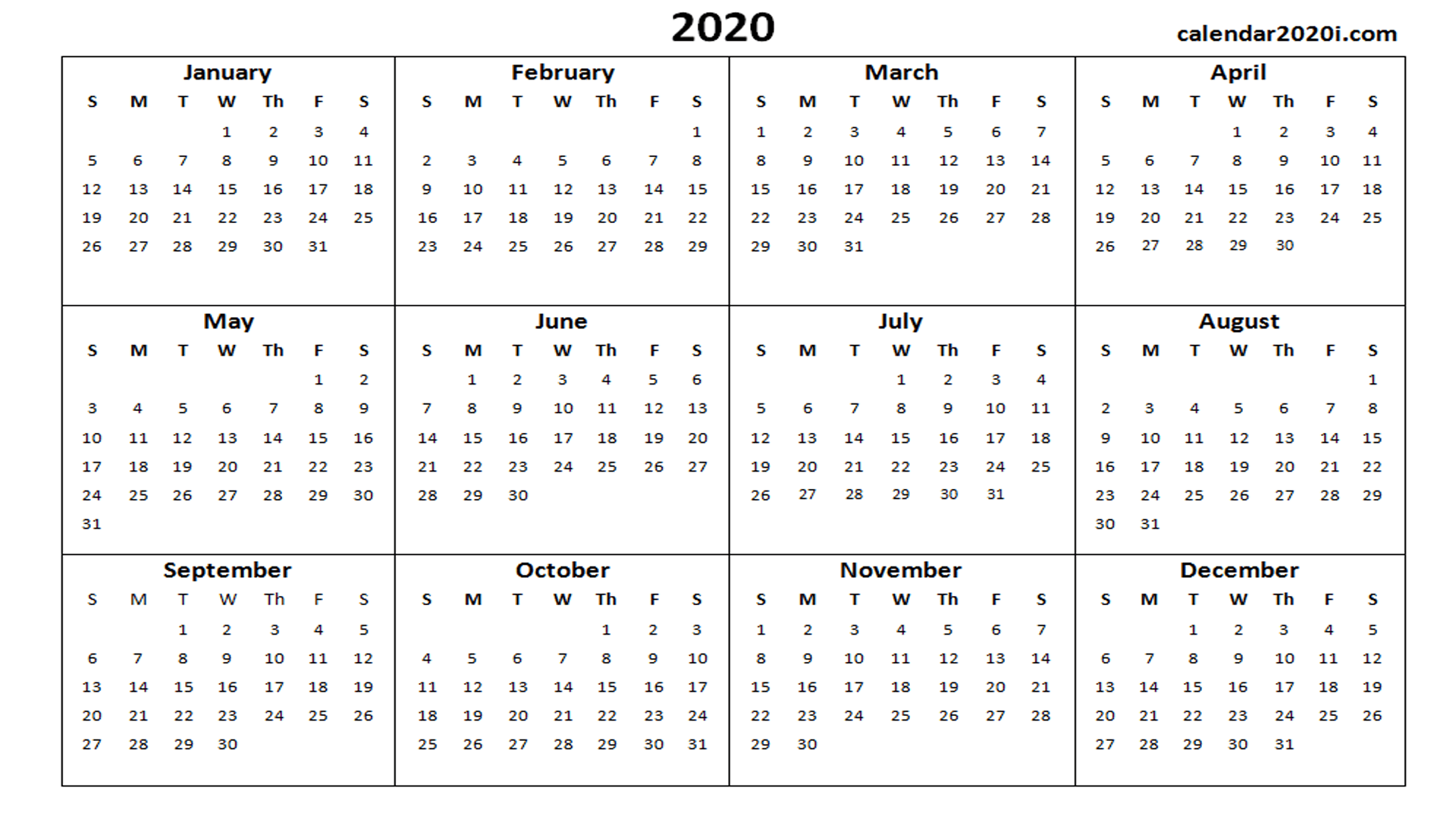 Word 2020 Calendar 2020 Calendar Wallpapers   Wallpaper Cave