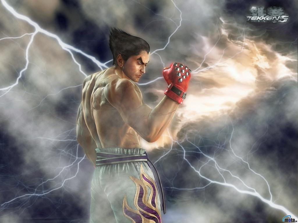 Download Wallpaper lightning tekken 5 kazuya mishima, 1024x768 ...