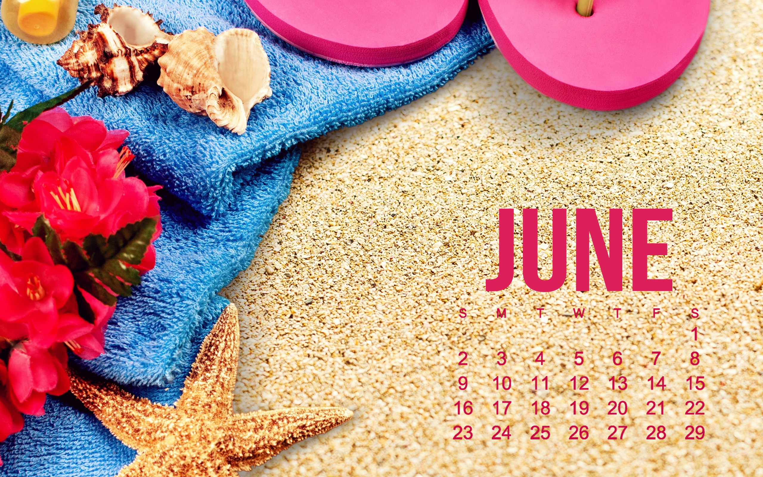 Download wallpapers 2019 June Calendar, beach, sand texture, beach ...