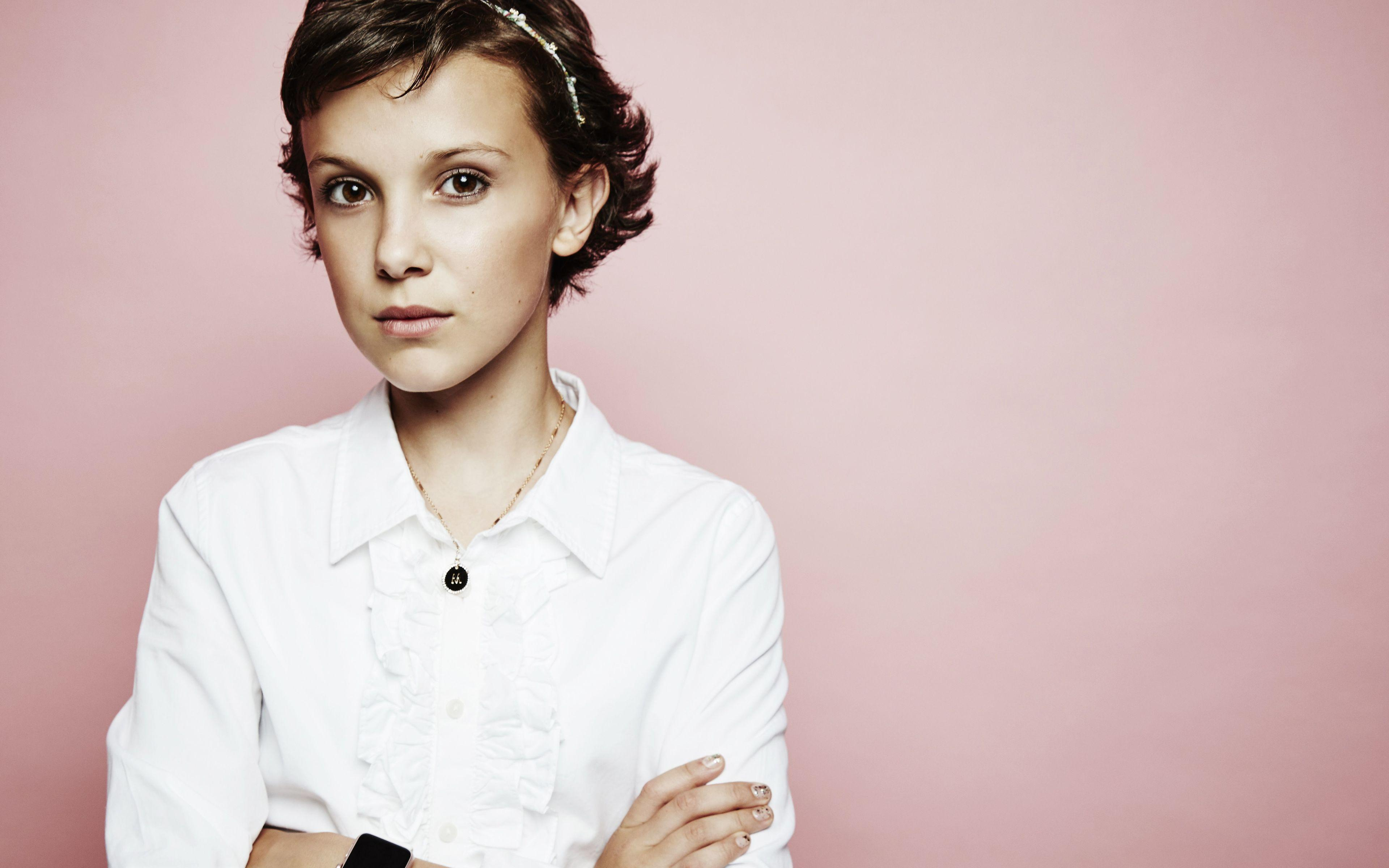 Download wallpapers 4k, Millie Bobby Brown, 2018, Hollywood