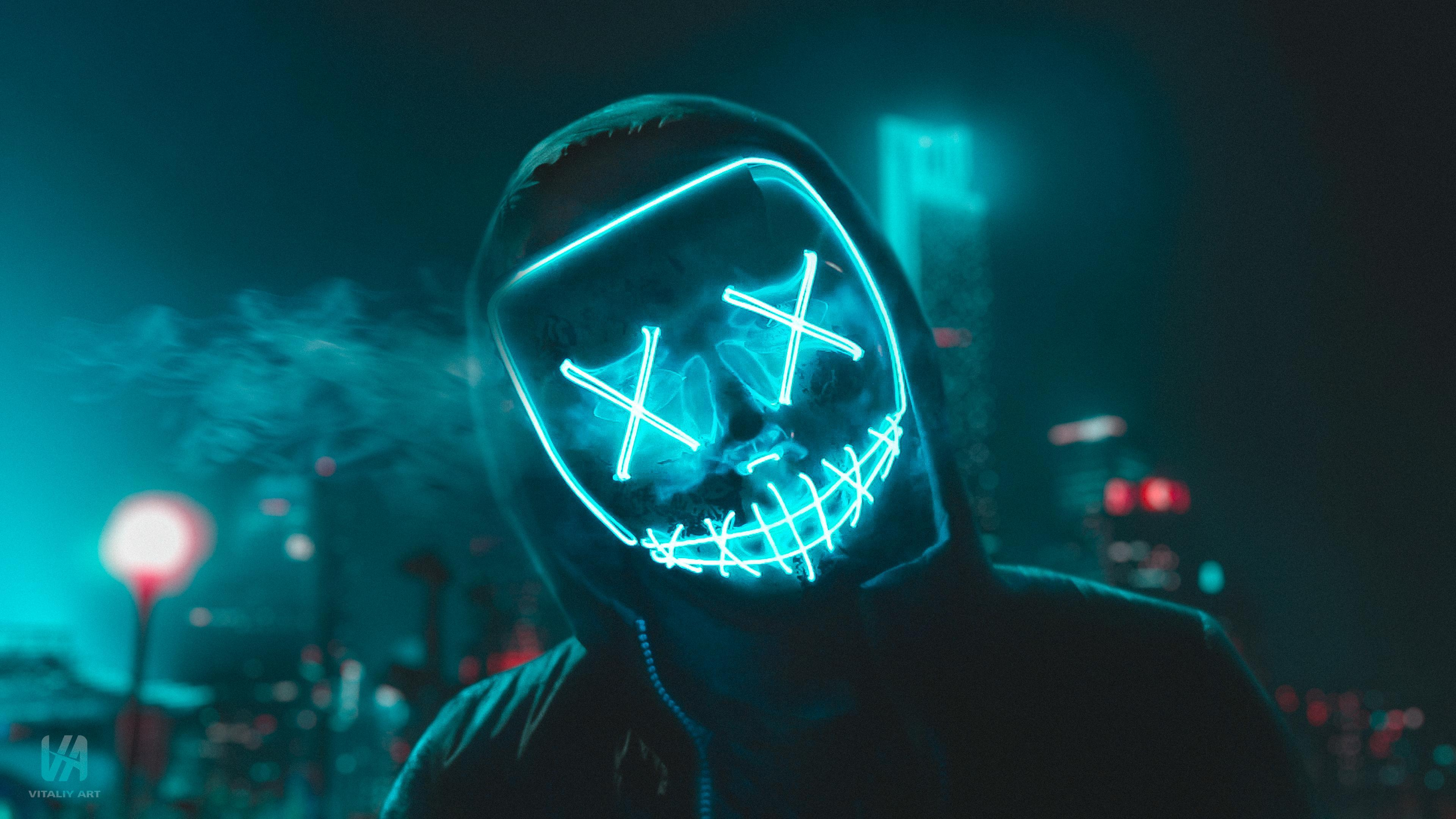 Led Mask Wallpapers Wallpaper Cave