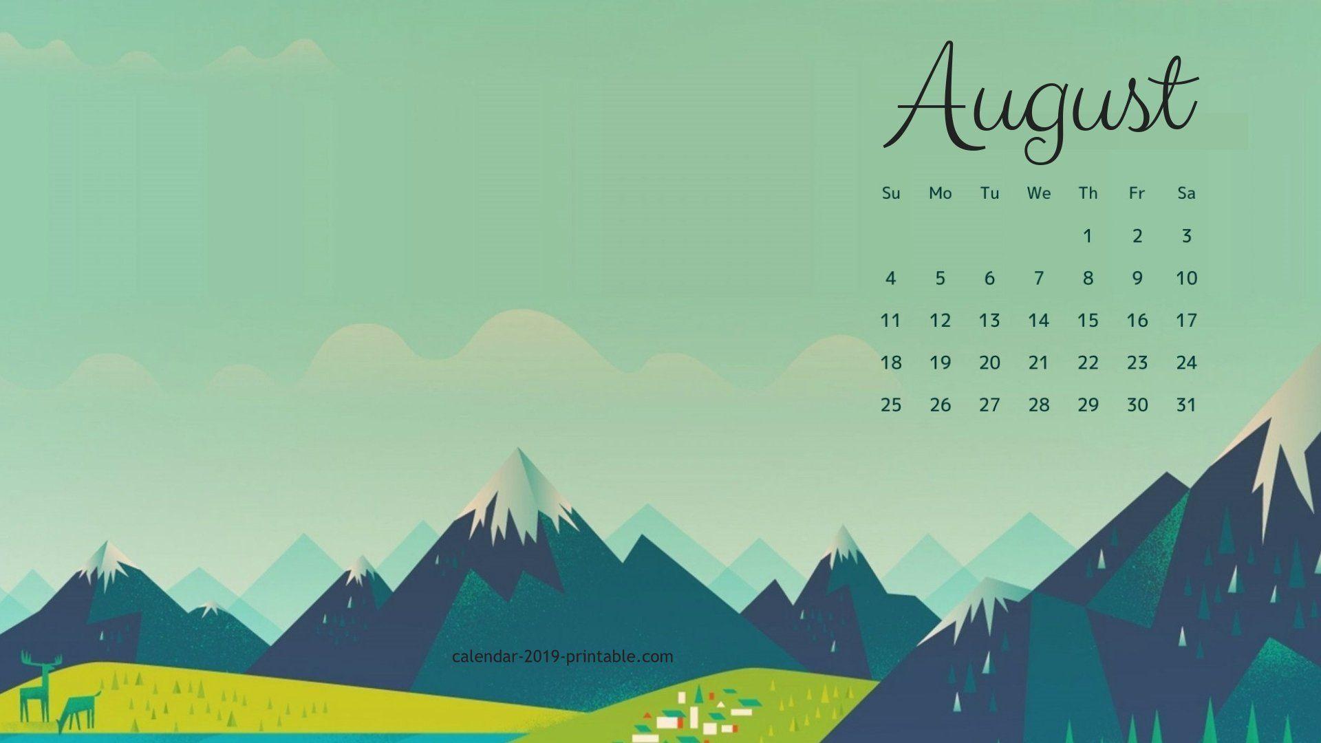 August 2019 Calendar Wallpapers Wallpaper Cave