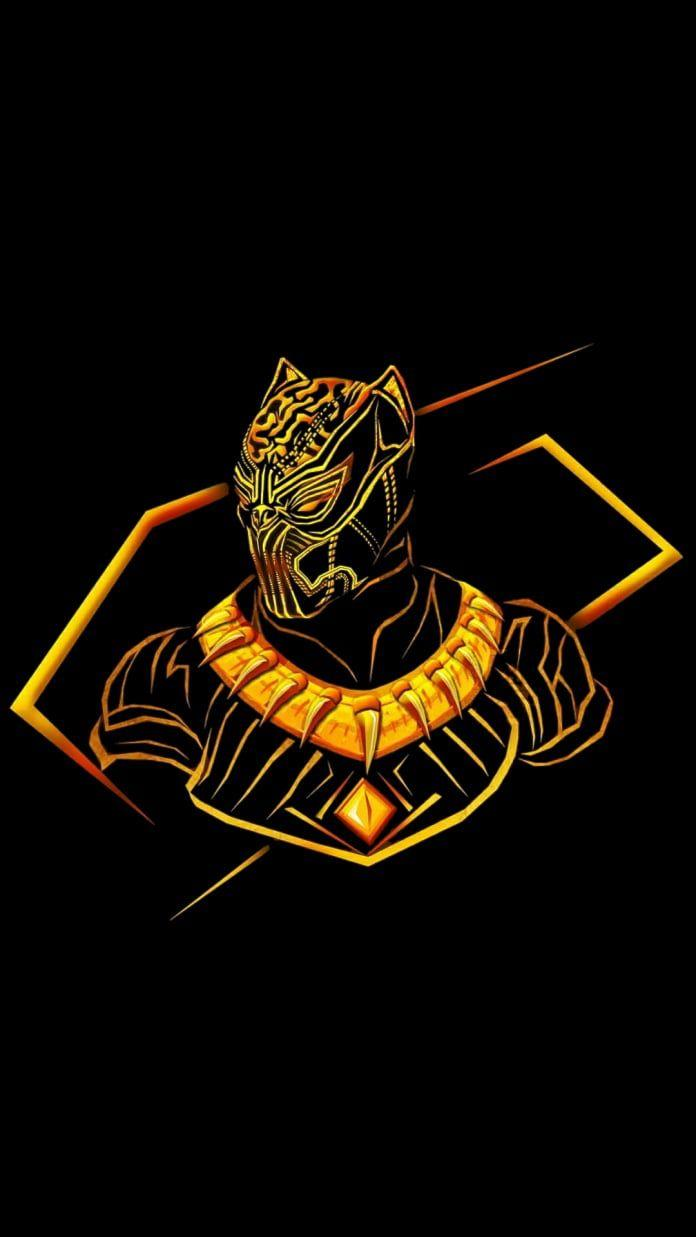 Black Panther Gold Wallpapers Wallpaper Cave
