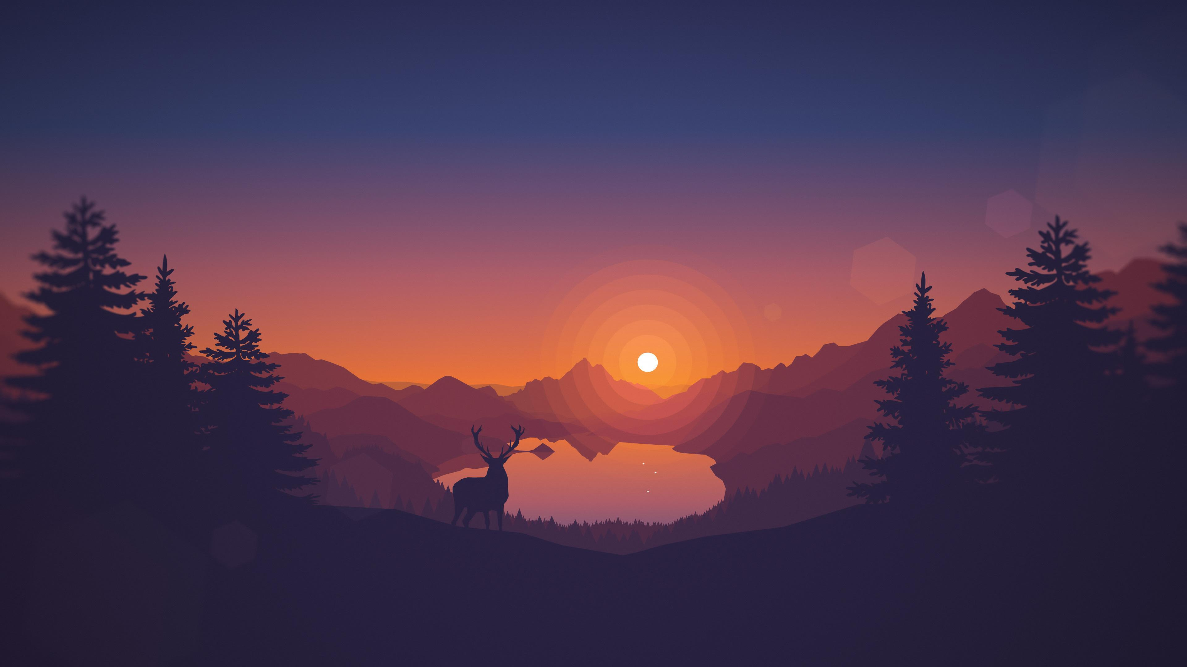 Minimalist Wallpapers from Firewatch