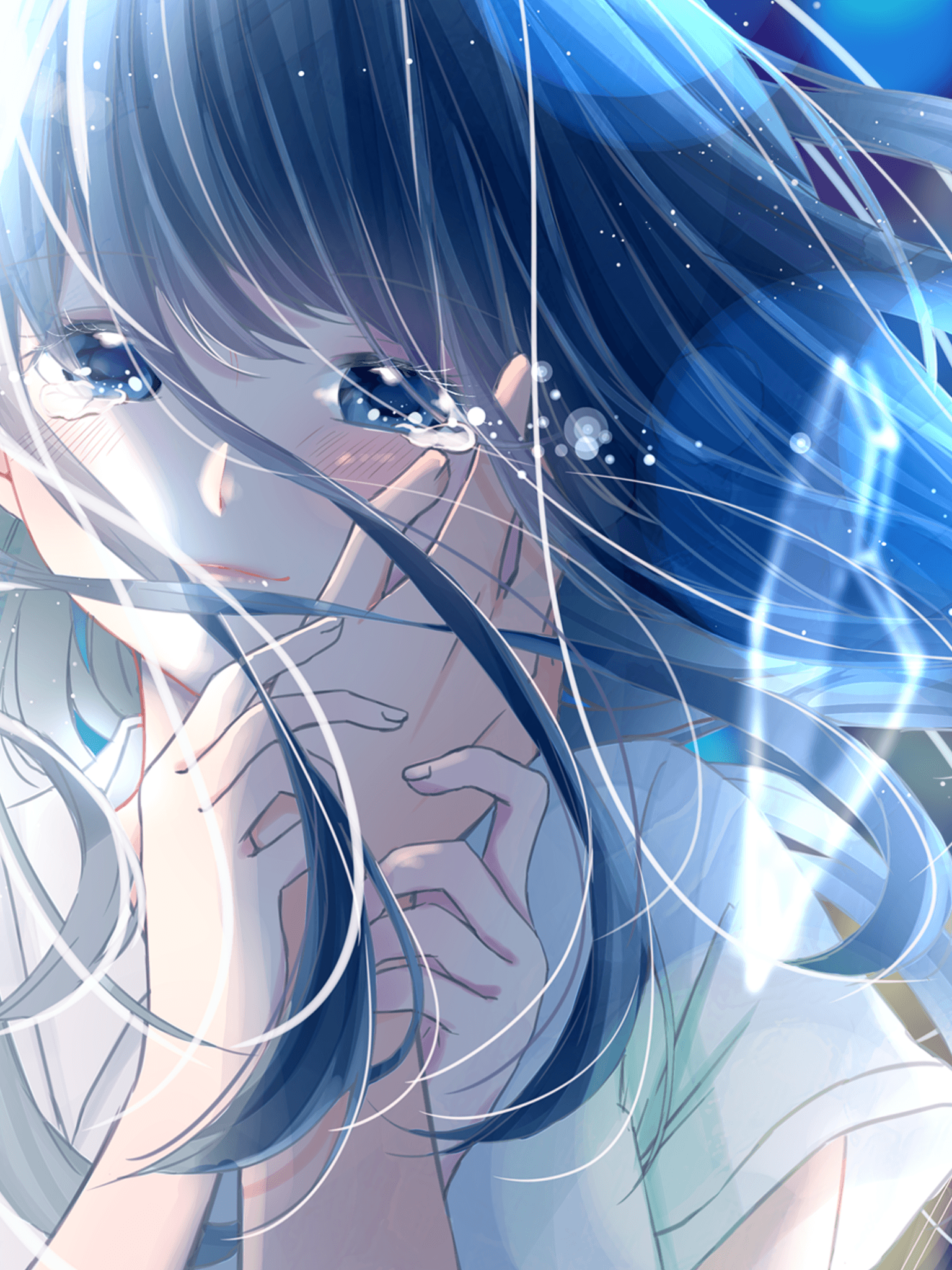 Crying Anime Girl Wallpapers - Wallpaper Cave