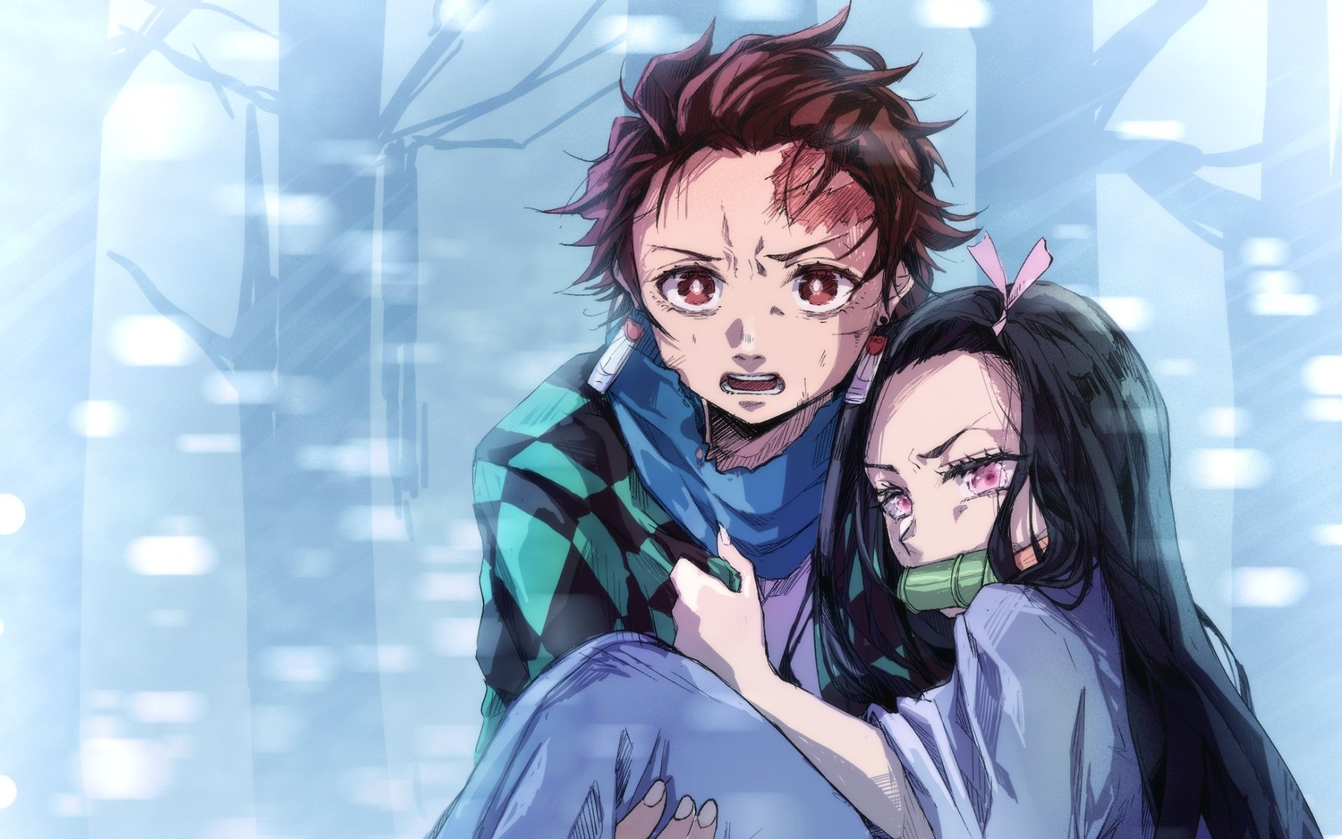 Wallpapers of Anime, Demon Slayer, Nezuko Kamado, Tanjirou backgrounds