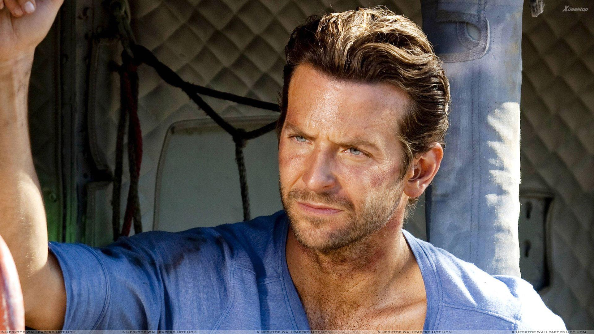 Bradley Cooper Angry Face In Blue T