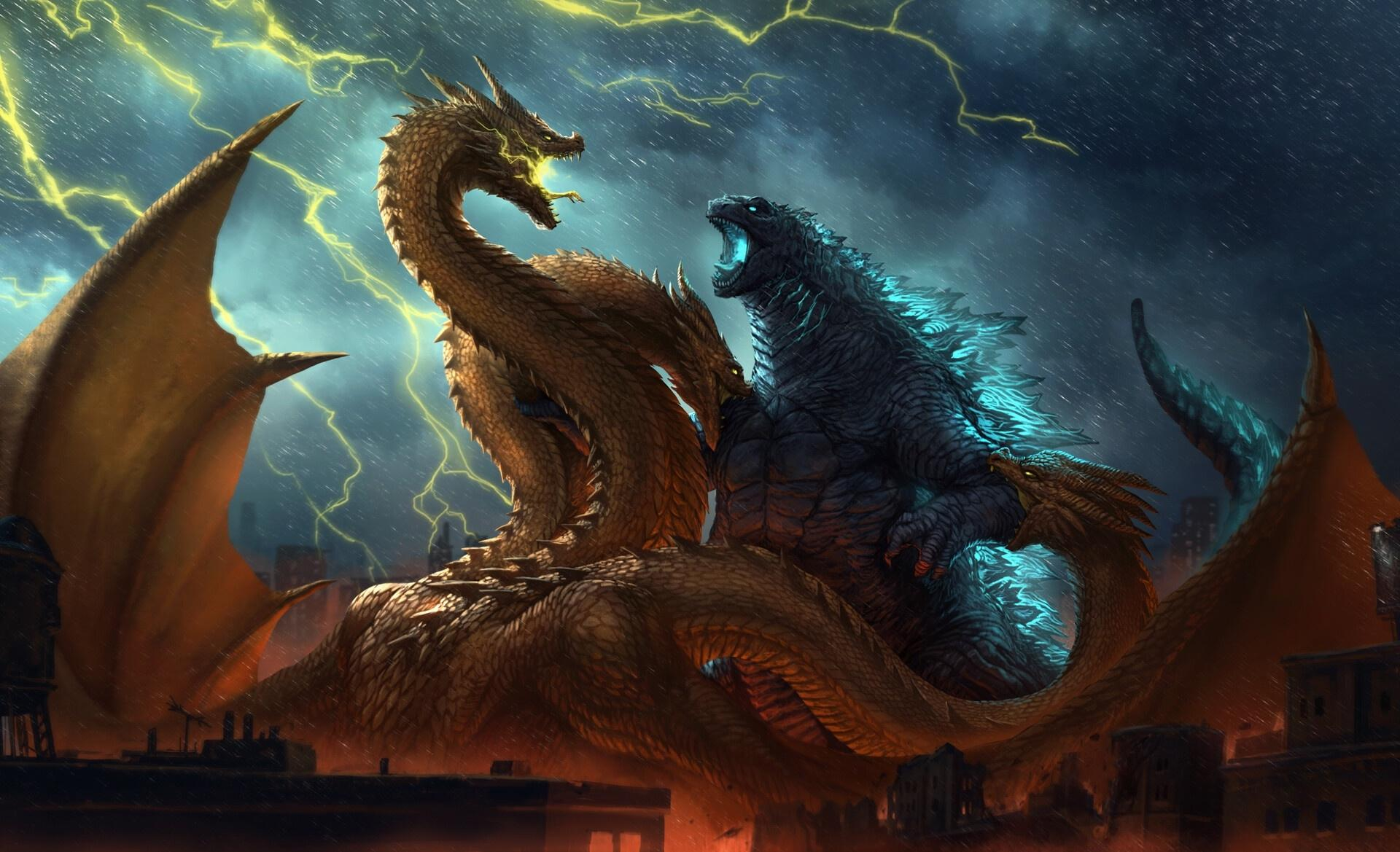 Godzilla Vs. King Ghidorah Wallpapers - Wallpaper Cave