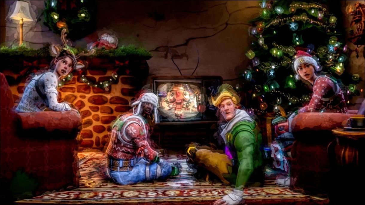 Fortnite Christmas Tree Background.Fortnite Christmas Skins Wallpapers Wallpaper Cave