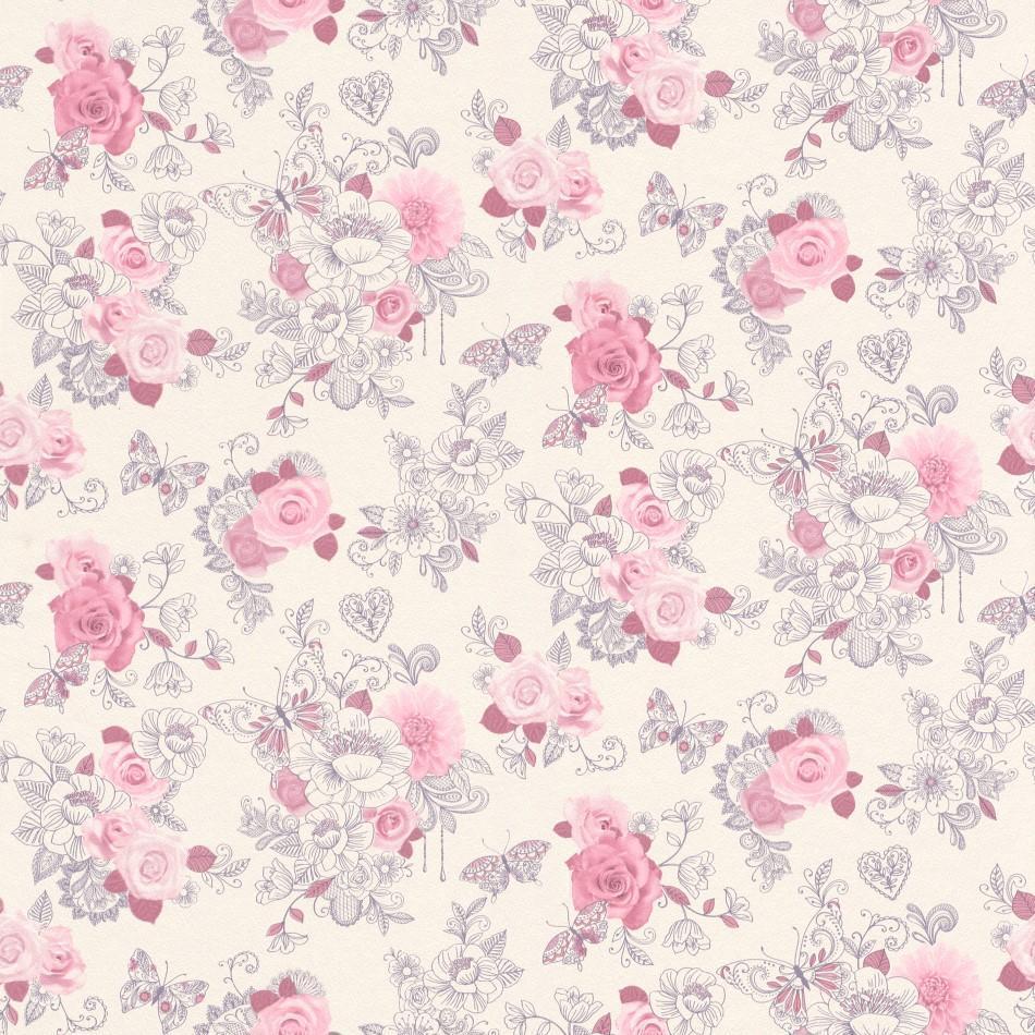 Pink Flowers Wallpaper: Flower Pattern Wallpapers