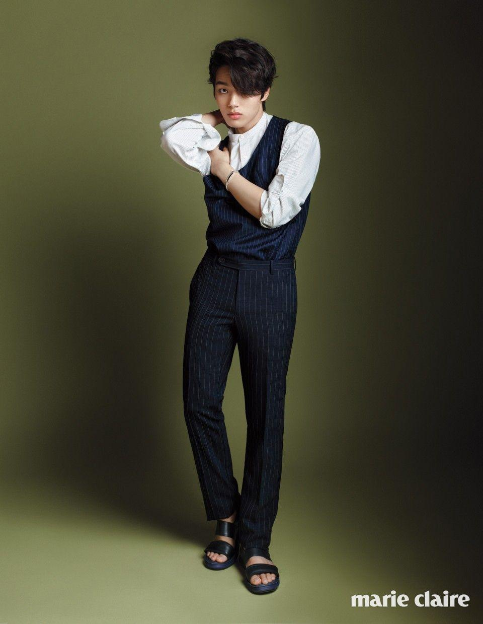 Yeo Jin Goo Switches Up His Clothes for Marie Claire Korea's April