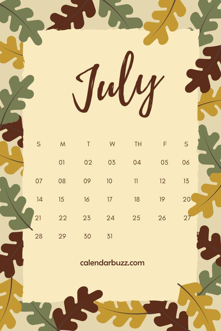 iPhone July 2019 Calendar Wallpapers