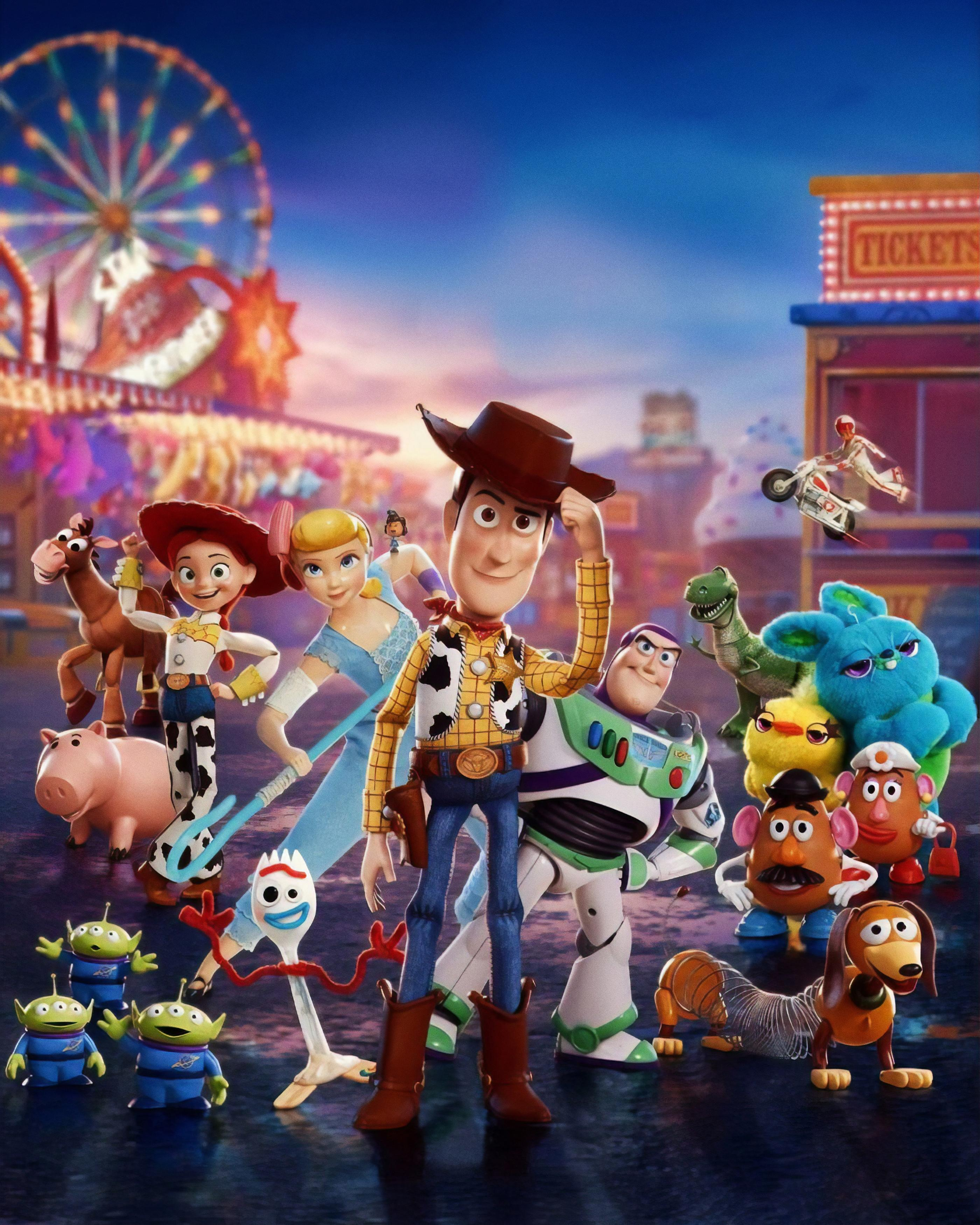 Wallpaper Toy Story 4, Animation, Pixar, 2019, HD, Movies, #17681