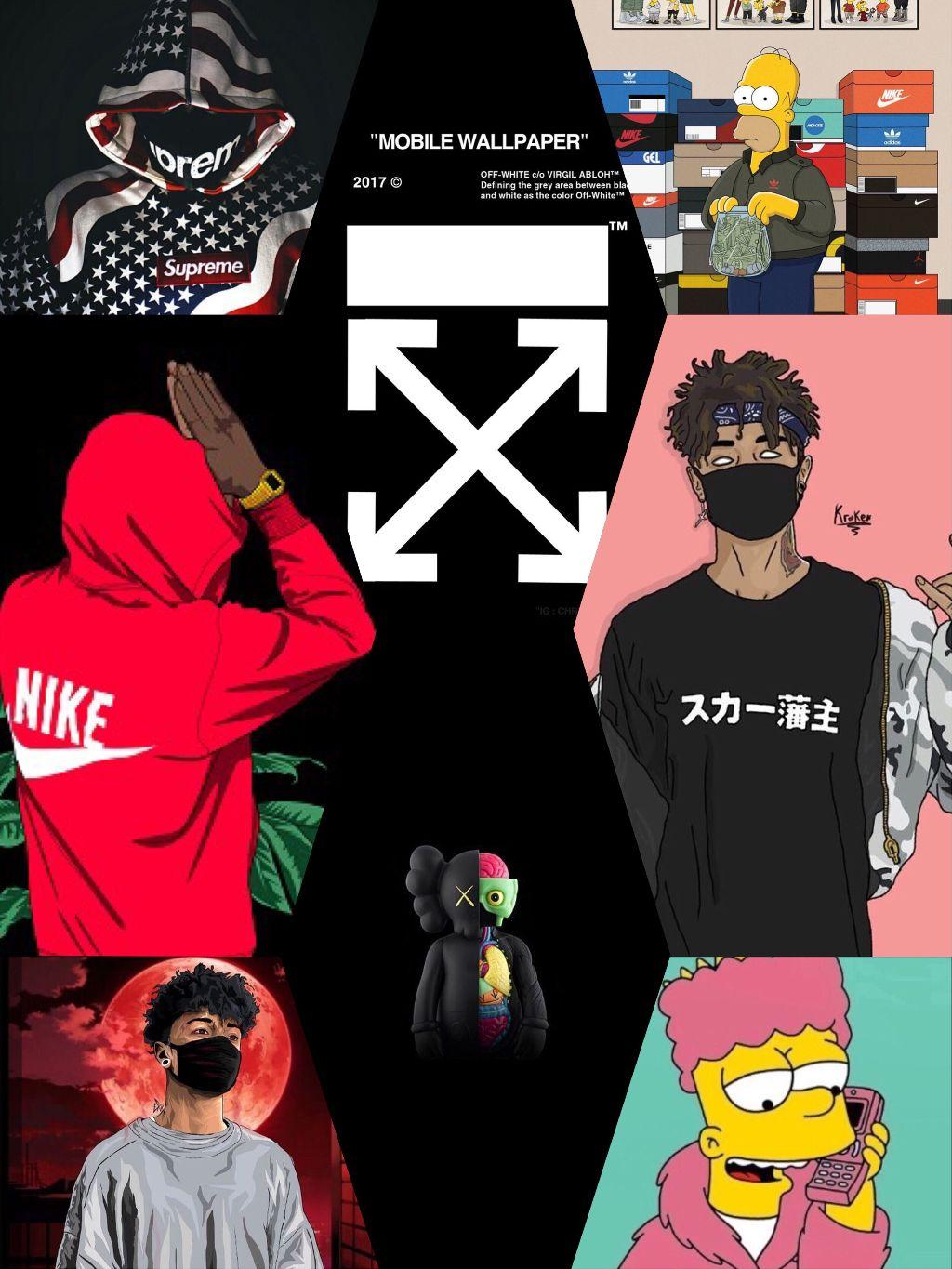 Off White Anime Wallpapers Wallpaper Cave