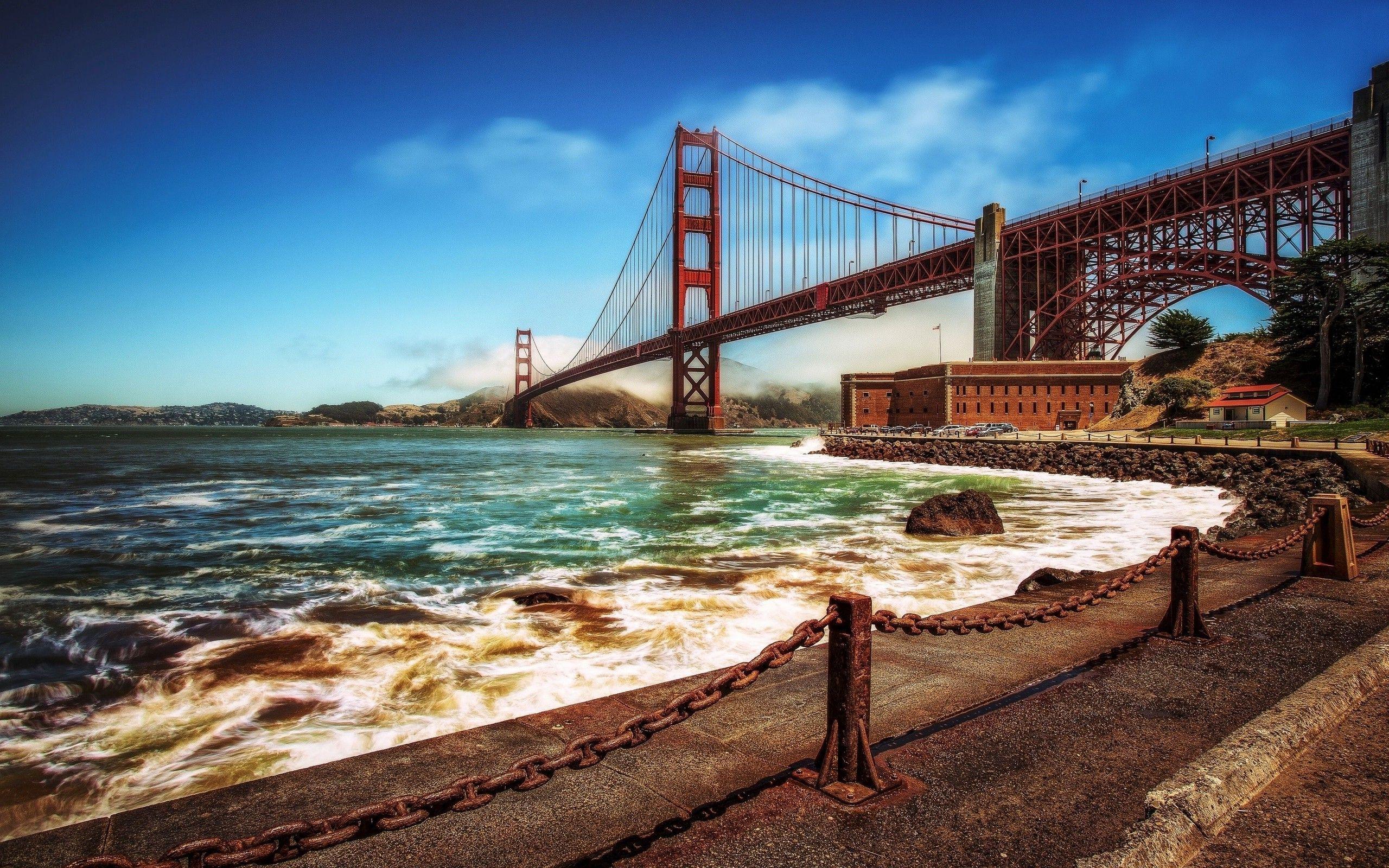 Golden Gate Bridge Evening San Francisco Wallpapers Wallpaper Cave