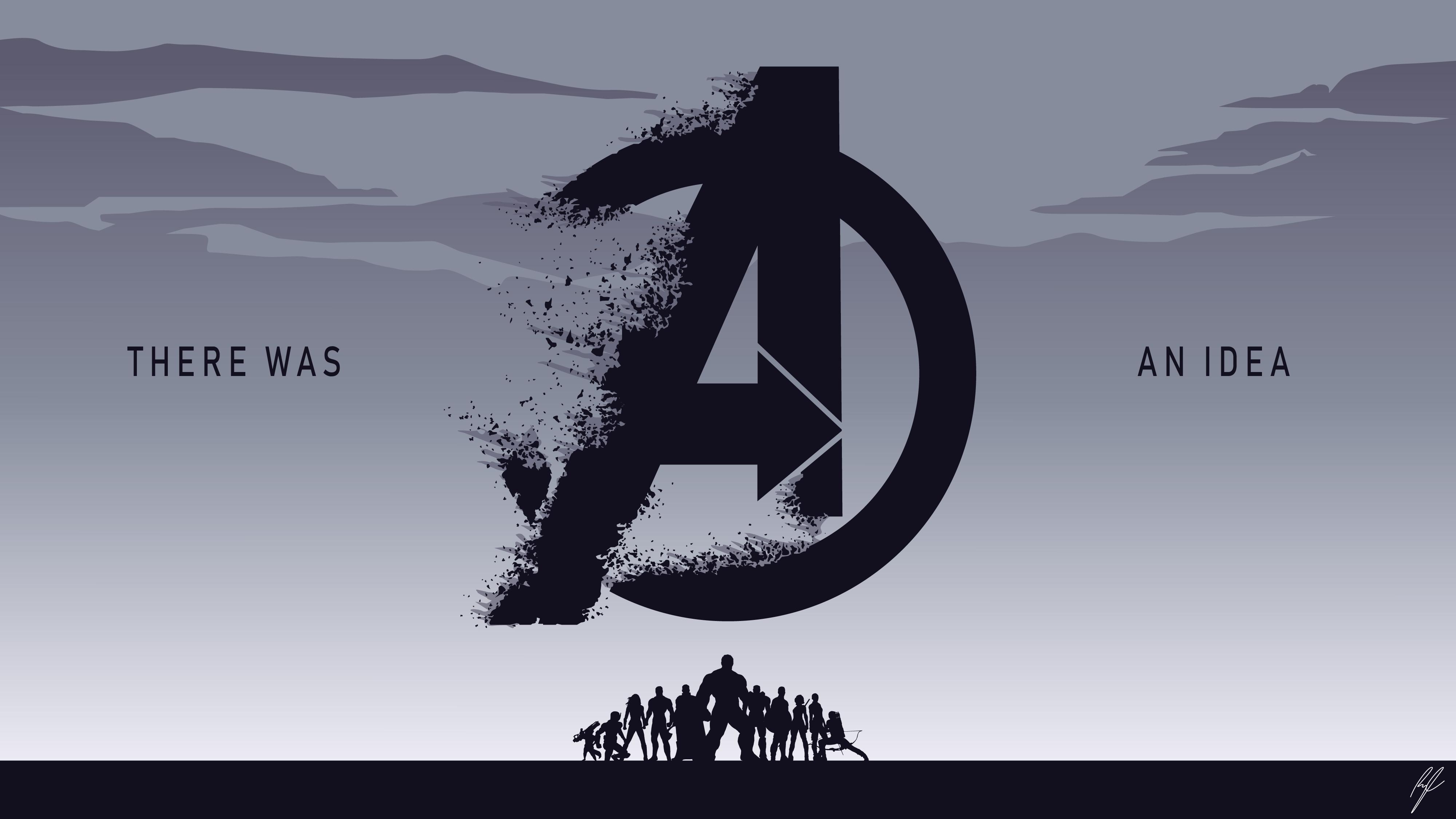 Avengers Endgame Minimal Wallpapers Wallpaper Cave