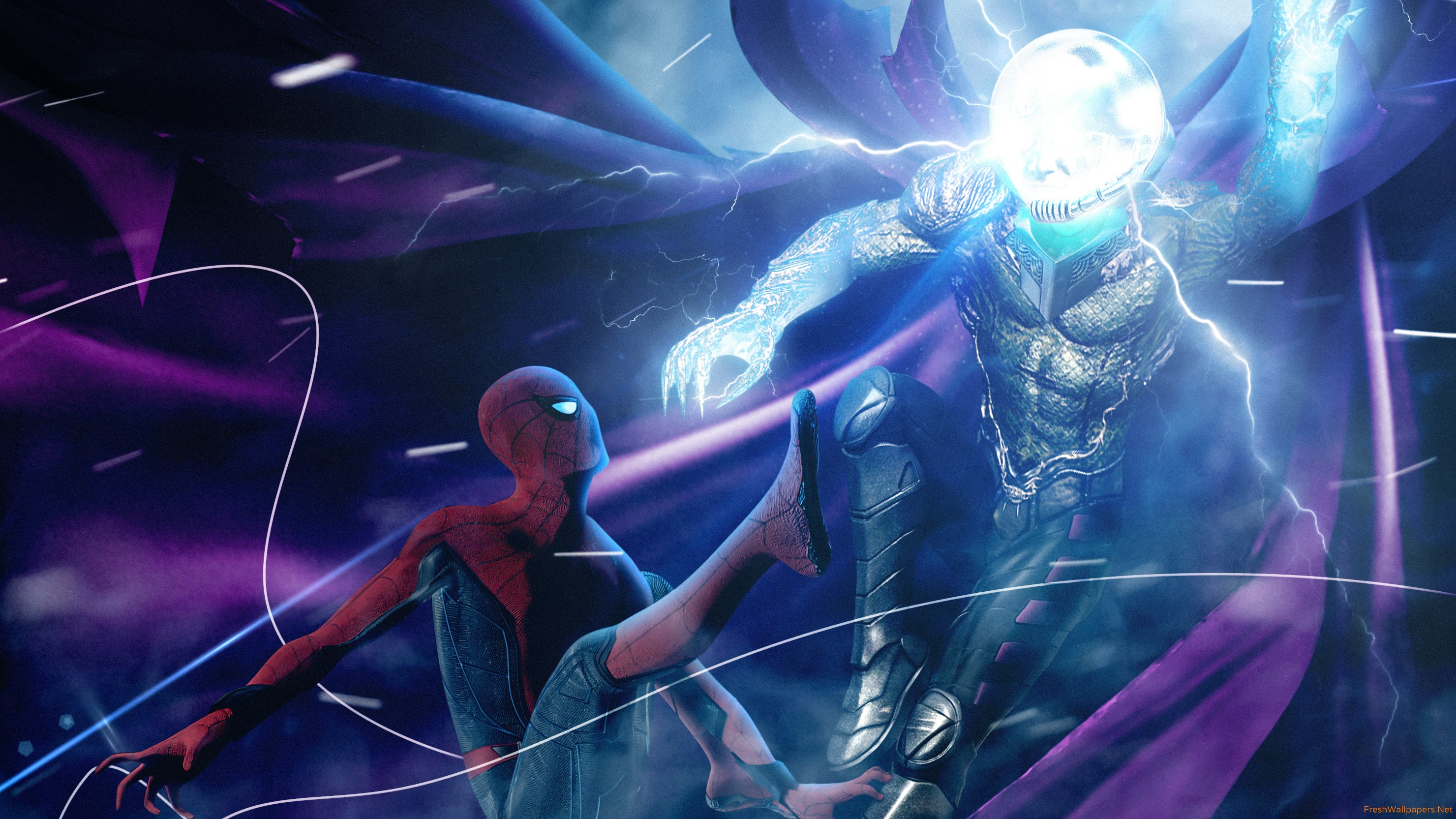 2019 Spider Man Far From Home And Mysterio wallpapers