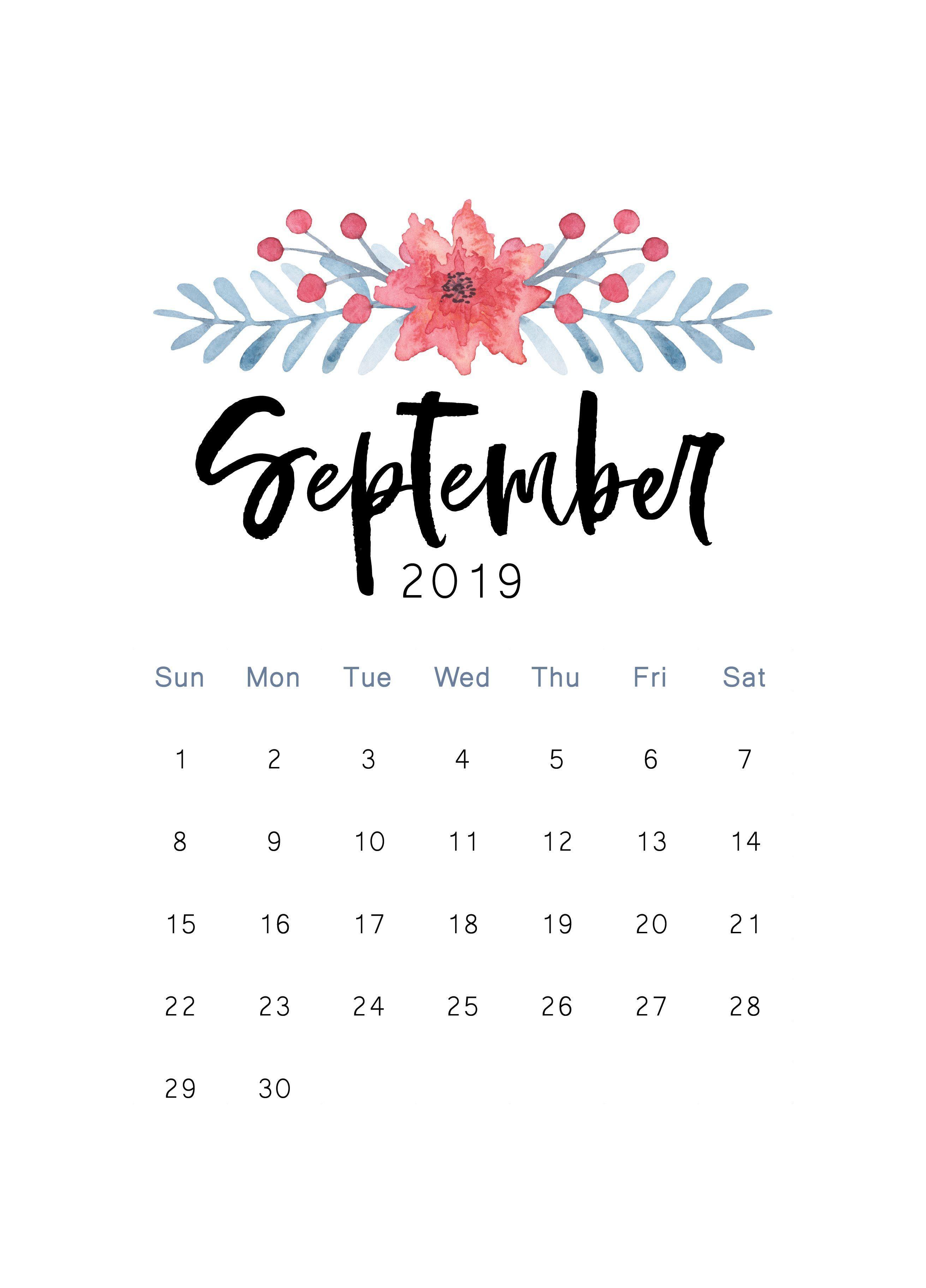 September 2019 Calendar Wallpapers Wallpaper Cave