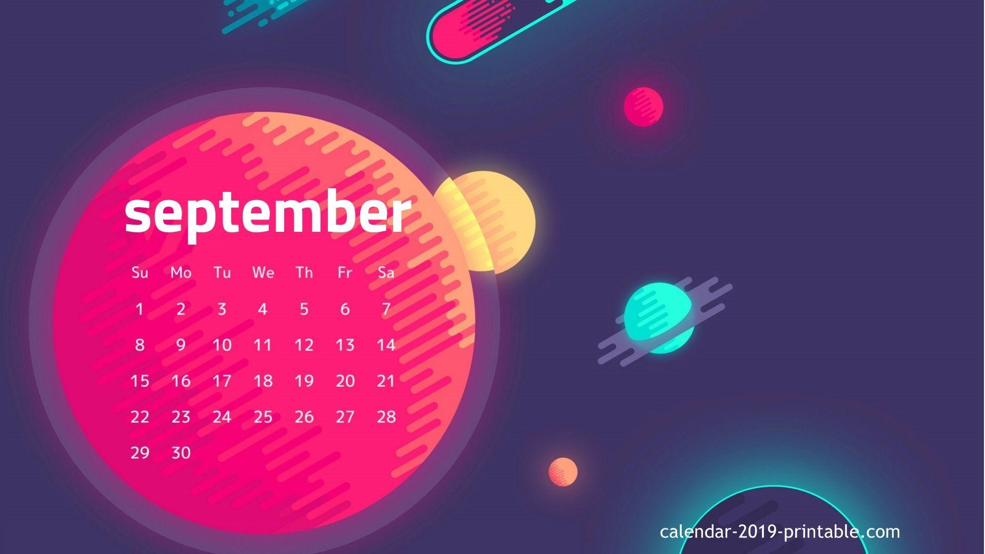 september 2019 hd wallpapers calendar