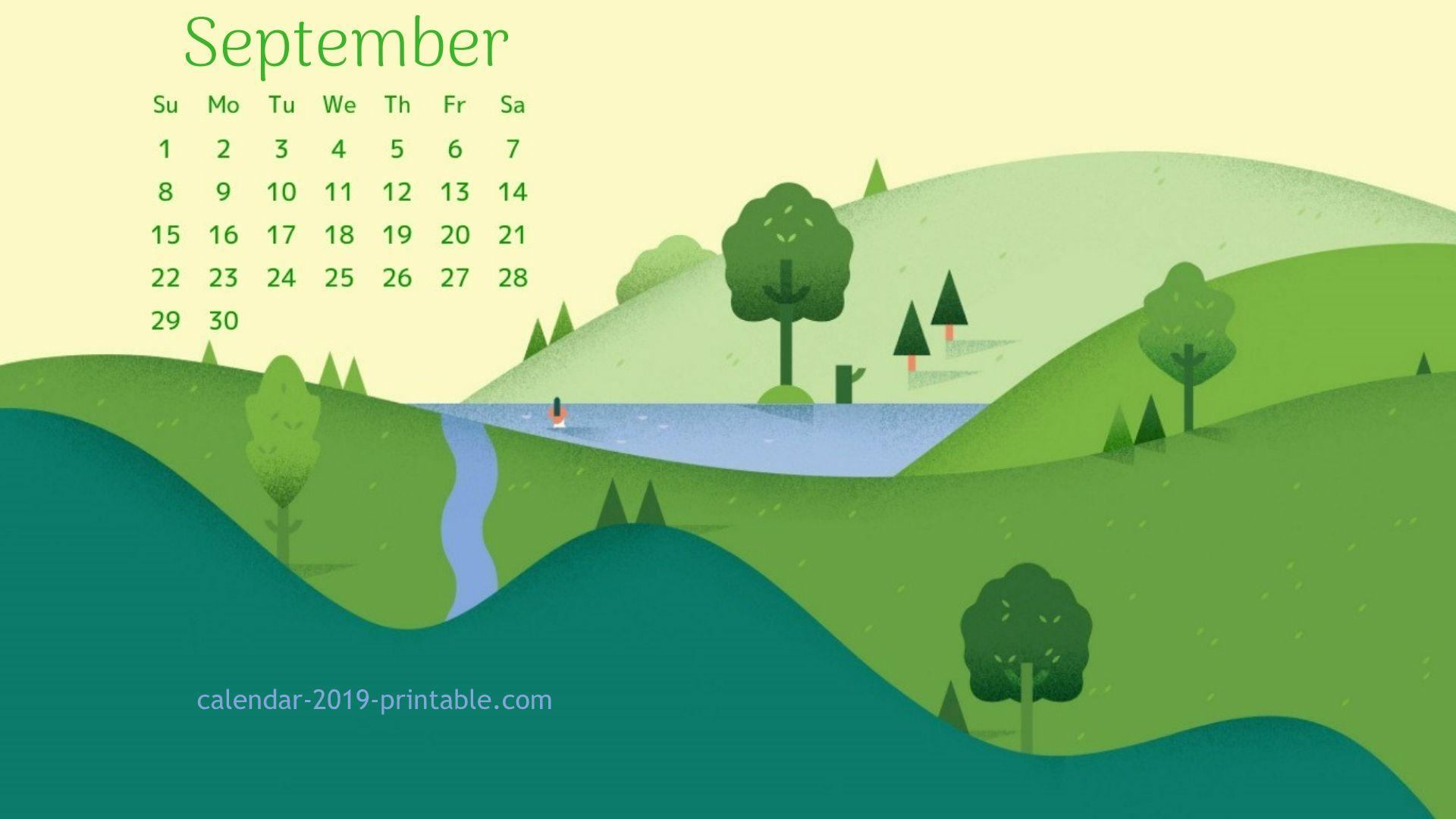 september 2019 calendar beautiful wallpapers