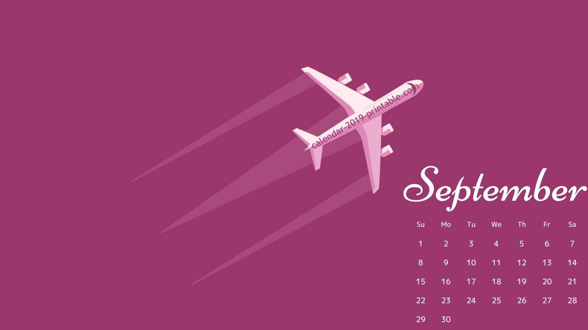september 2019 calendar pc wallpapers