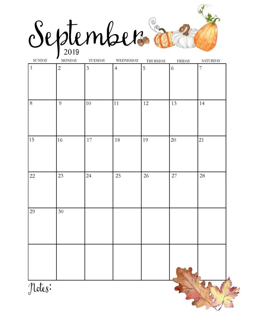 Editable September 2019 Printable Calendar Blank Templates