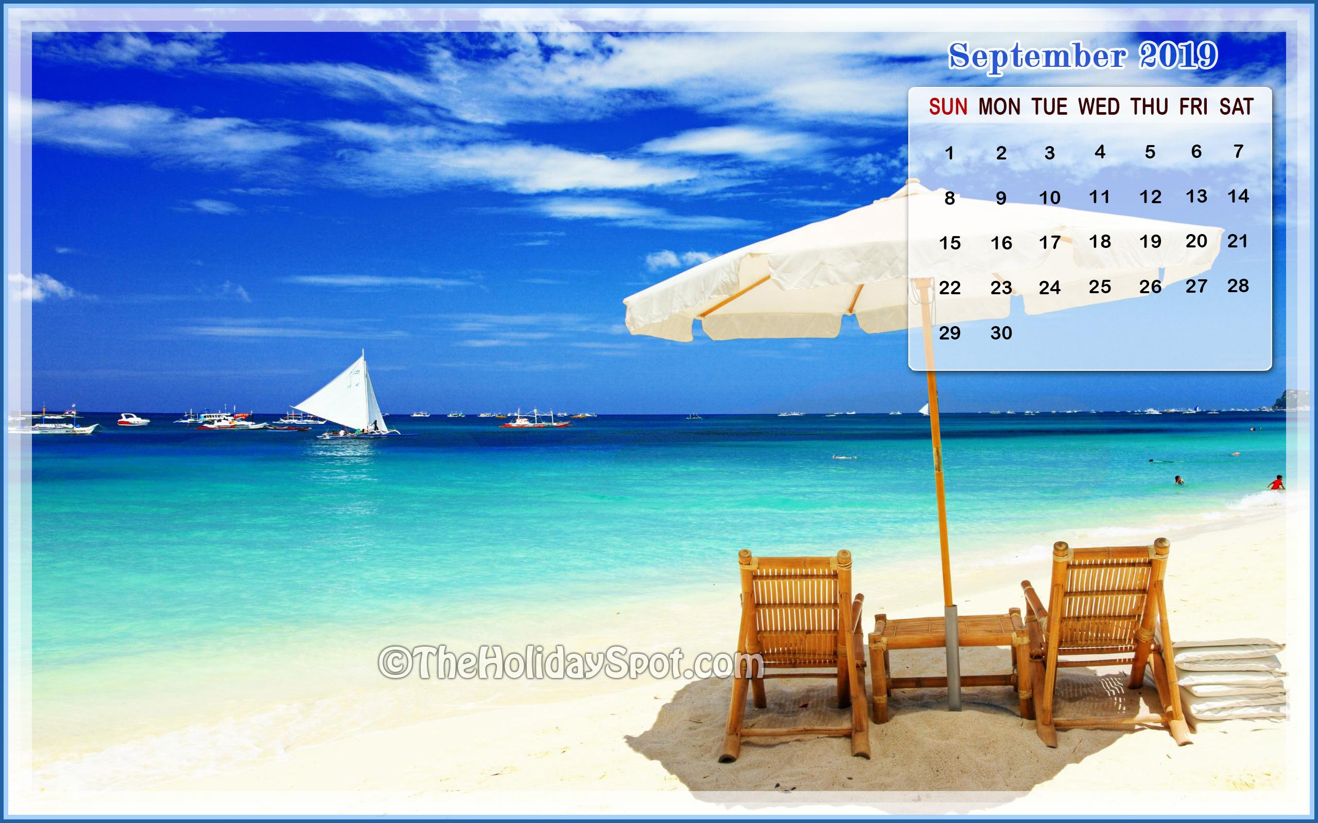 September 2019 Calendar Wallpapers