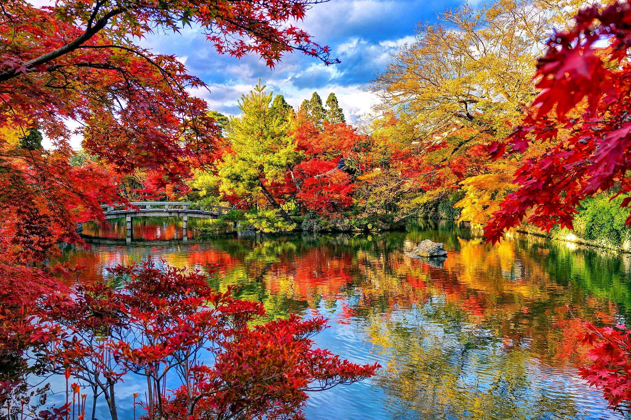 Autumn Japanese Lake Wallpapers Wallpaper Cave