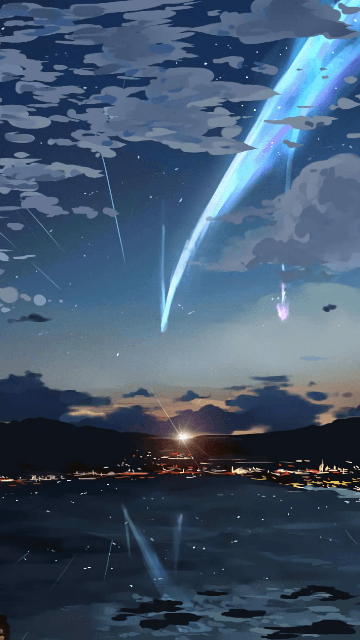 Download 720x1280 Your Name, Sky, Stars, Kimi No Na Wa, Lights